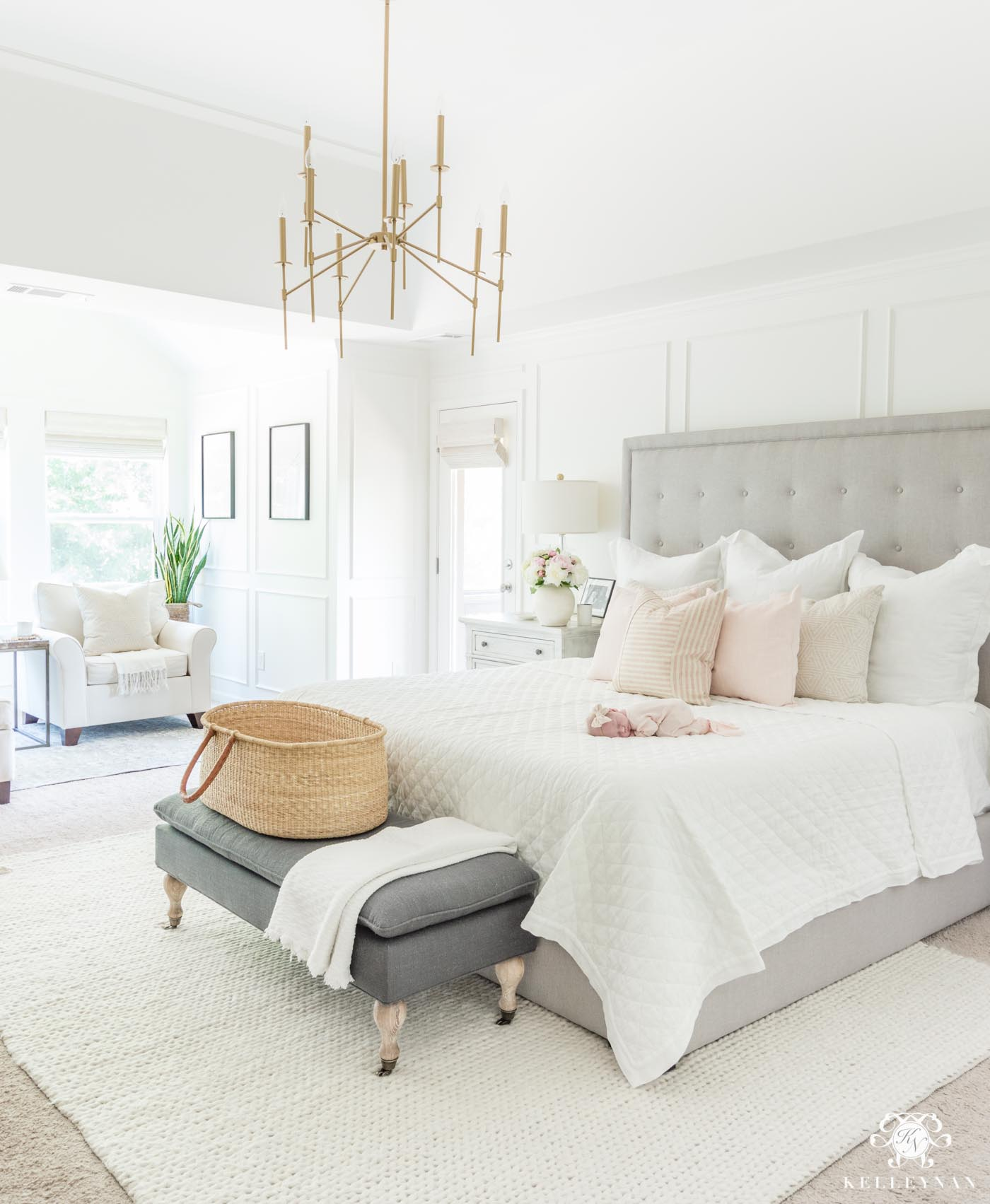 Six Blush Pink Bedroom Tips That Aren\'t Too Girly | Kelley Nan