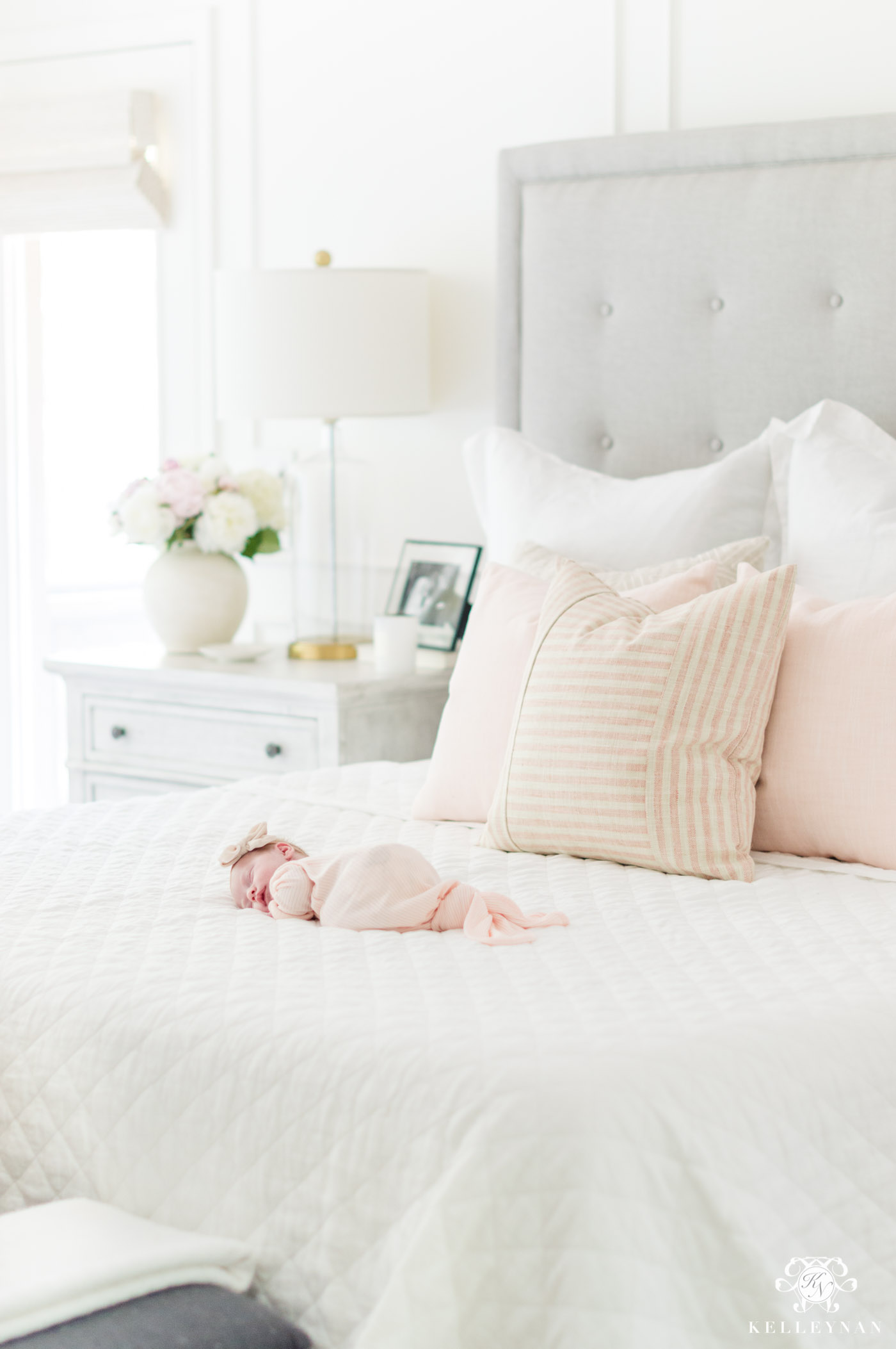 Pink bedroom newborn photos