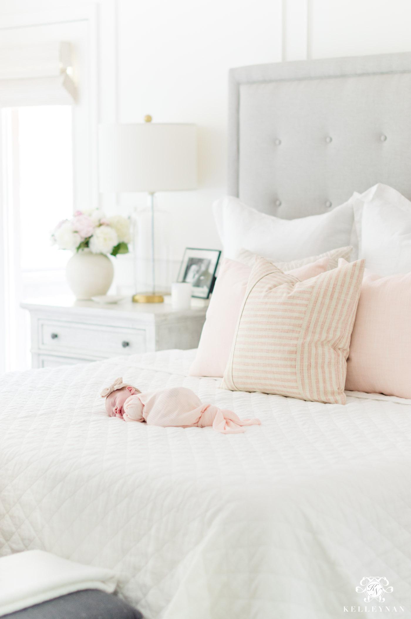 Pink bedroom newborn photos