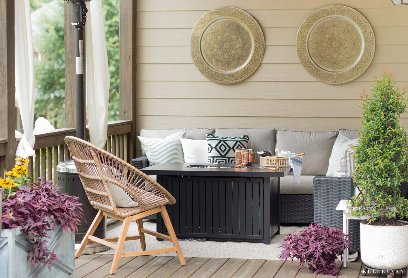 Fall porch decor and outdoor living