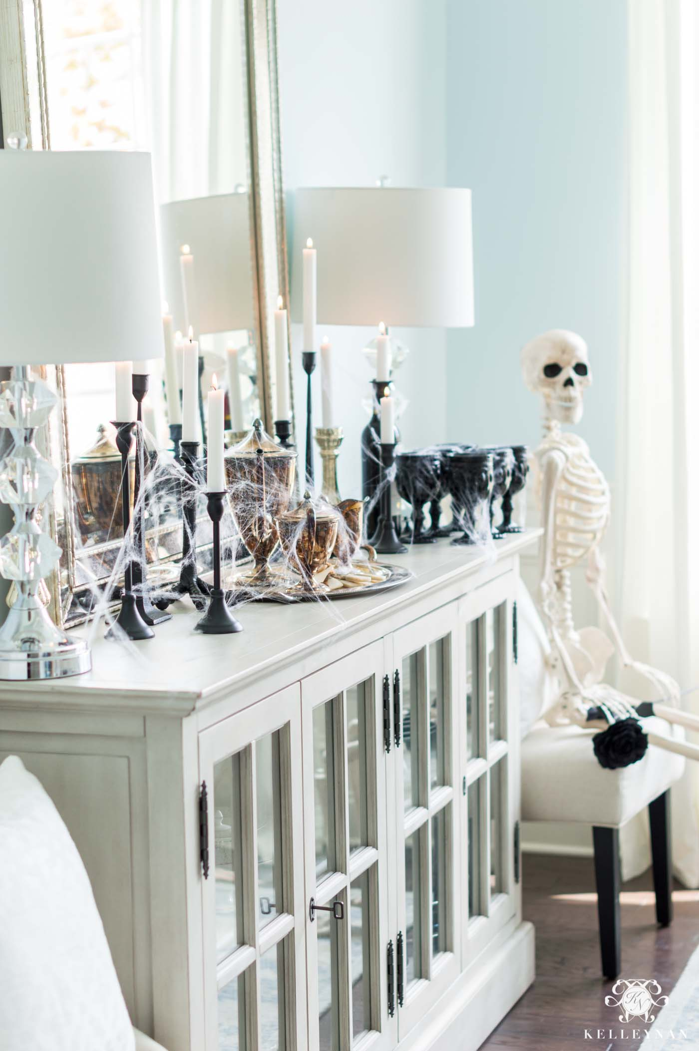 Gothic Halloween Decor for the Dining Room