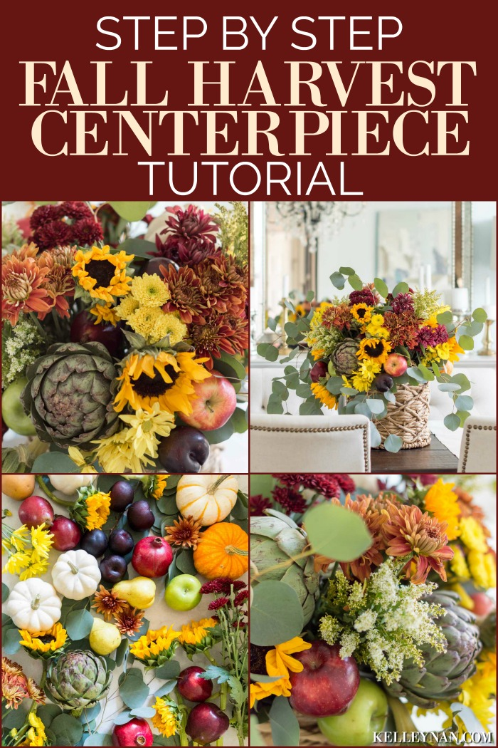 Step by Step Instructions to Create a DIY Fall Harvest Centerpiece Flower Arrangement