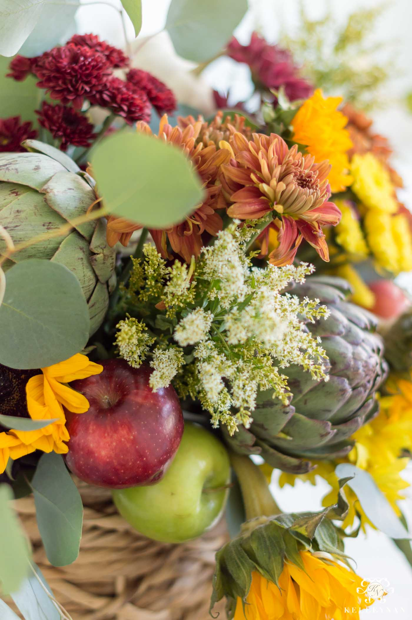 How to Arrange Flowers for a Fall Centerpiece (full tutorial!)