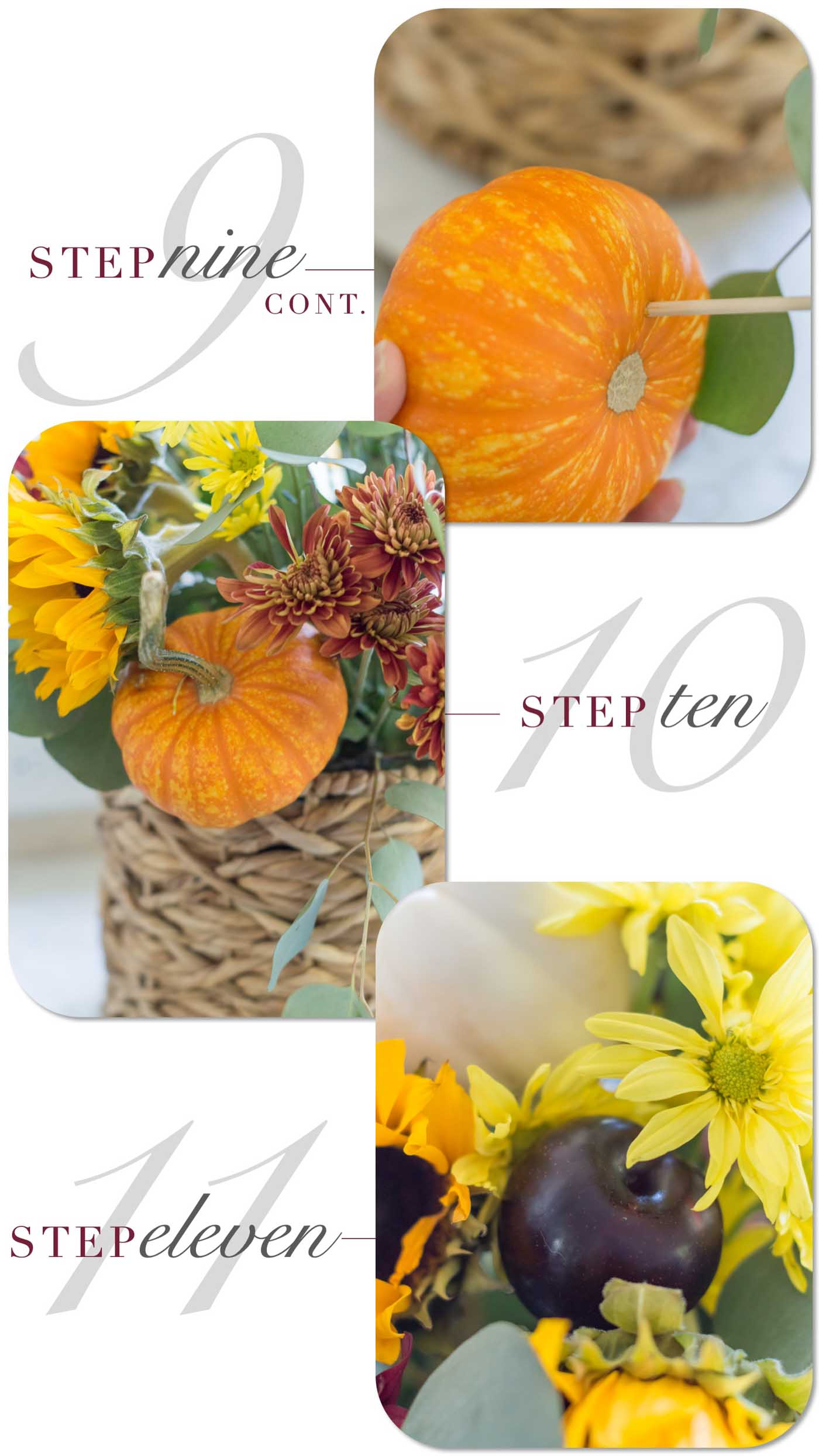 DIY- Fall Harvest Floral Tutorial