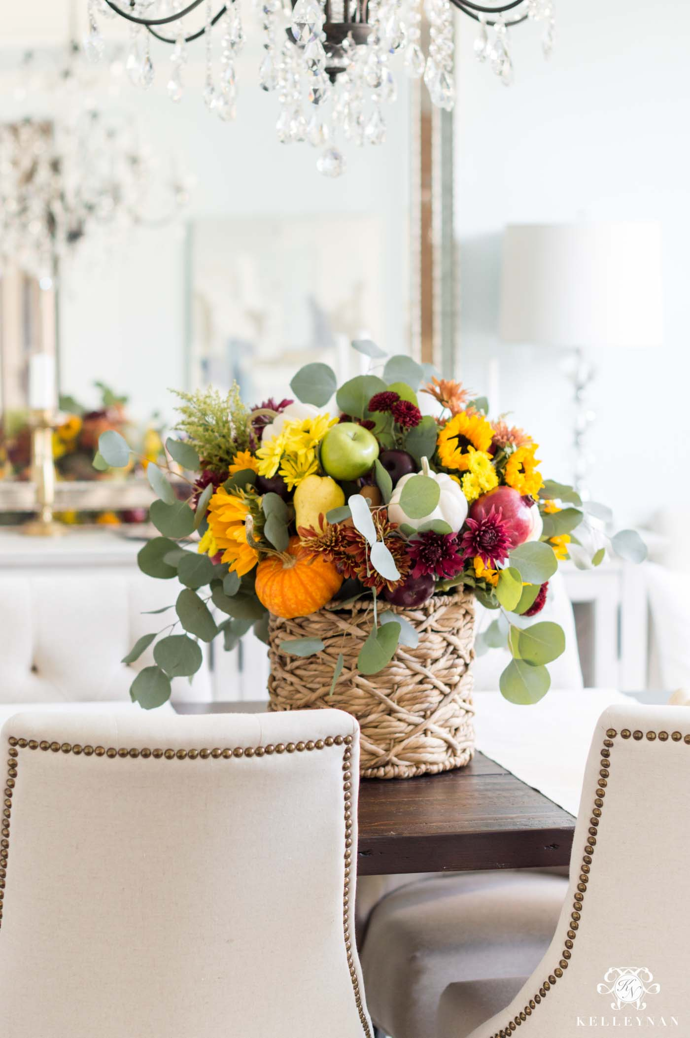 Fall Harvest Flower Arrangement Tutorial- From Start to Finish!