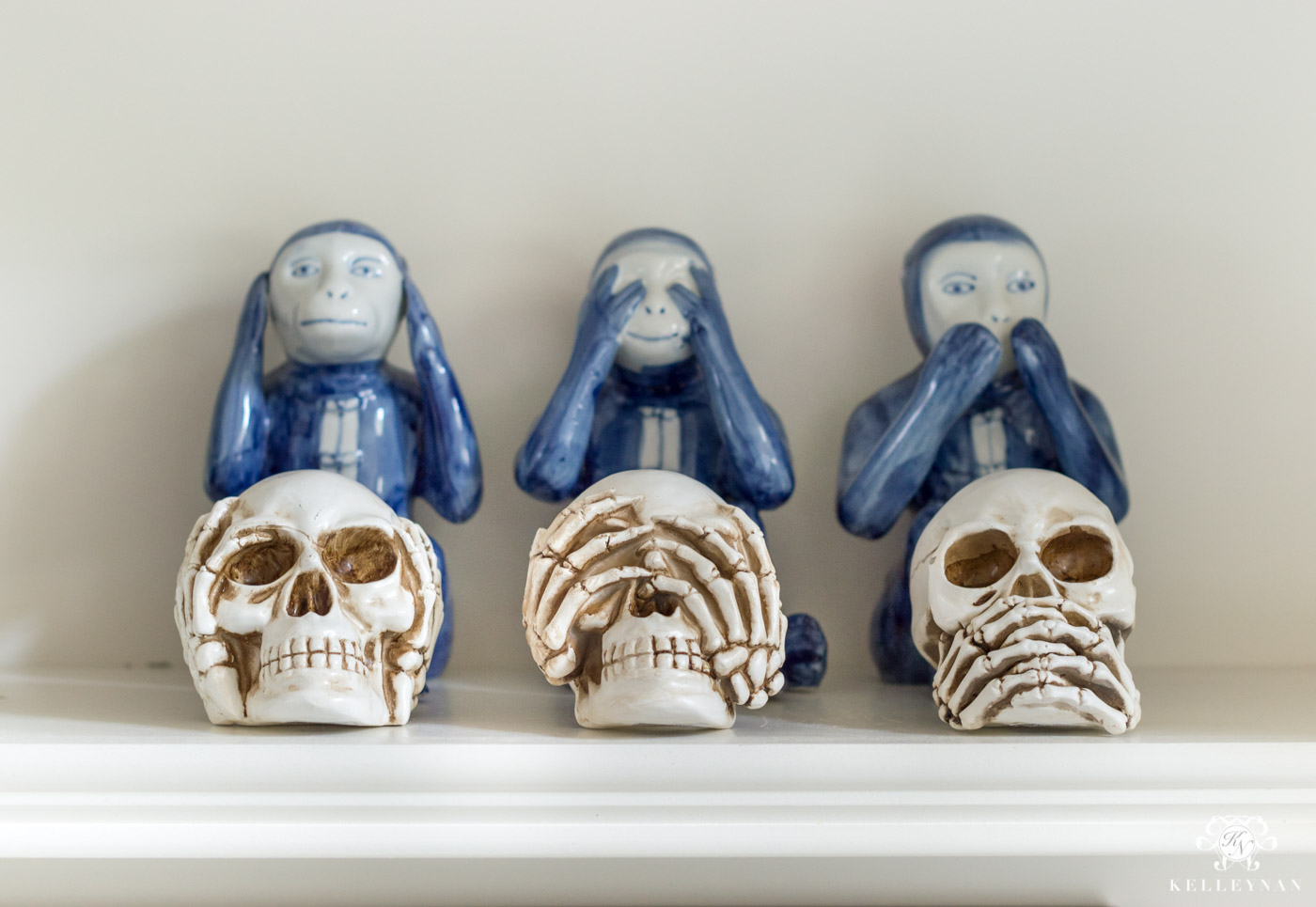 Halloween Bookshelf Decor Ideas