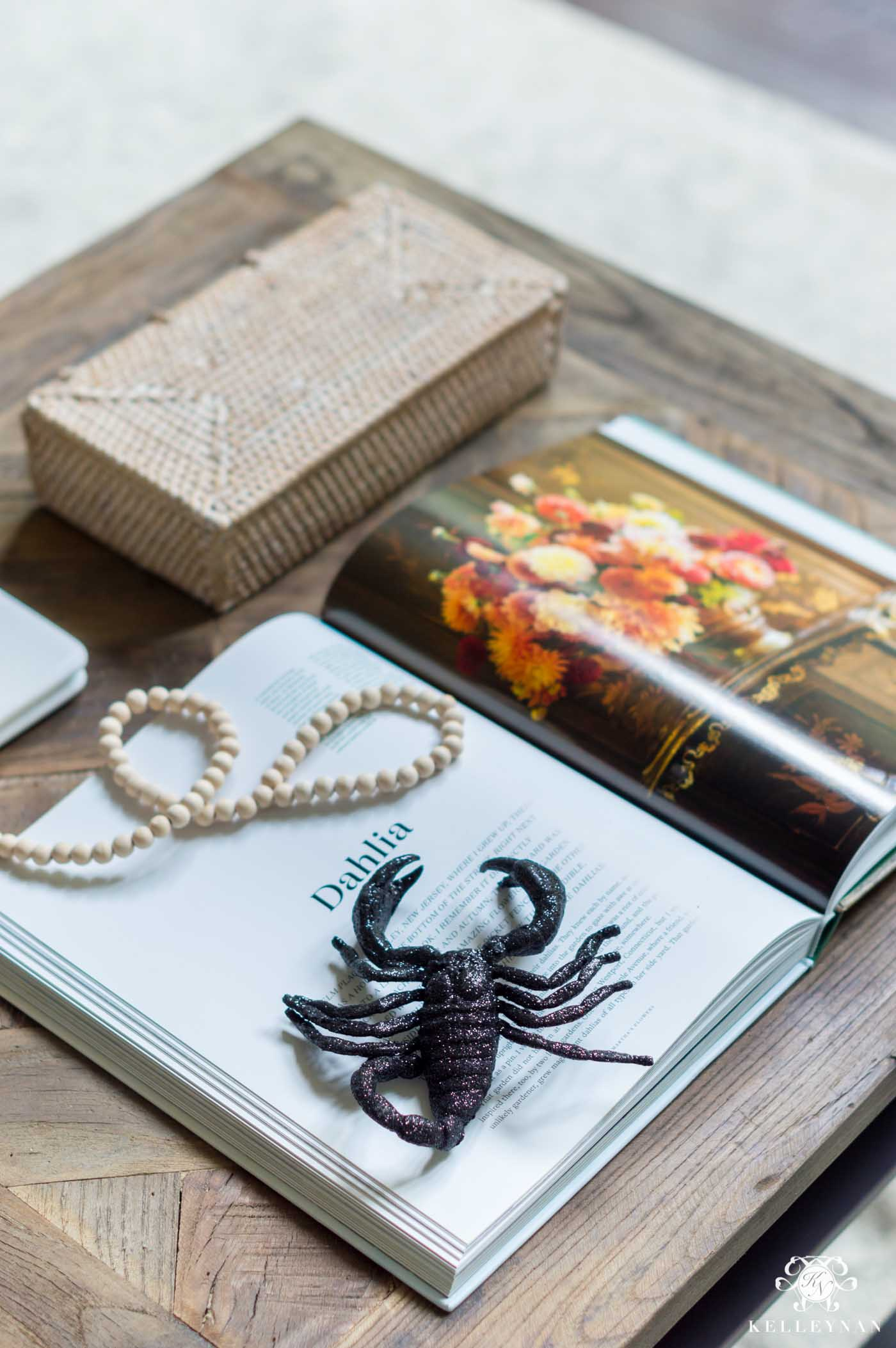 Easy Halloween Coffee Table Decor