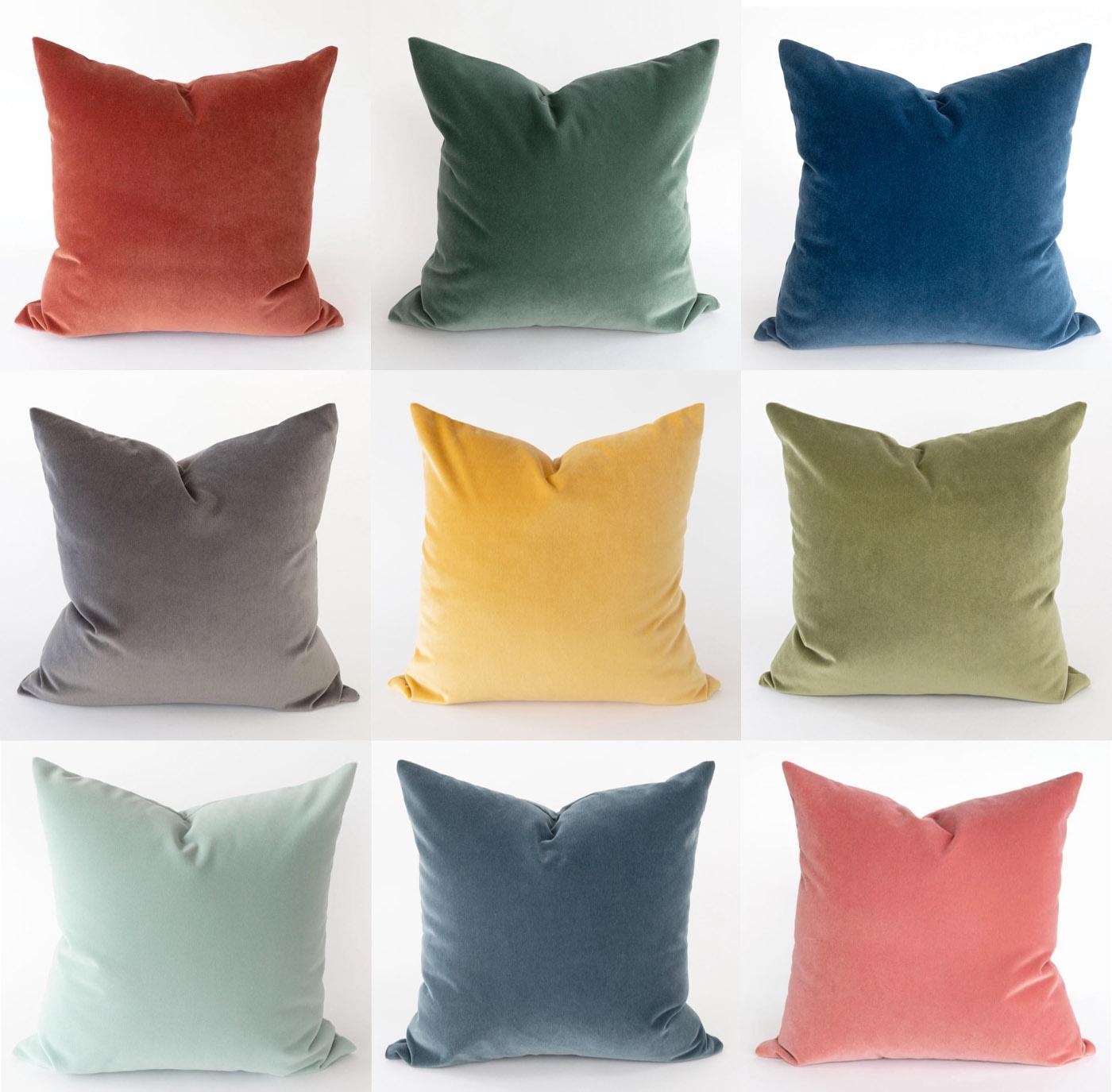 best velvet pillows for fall