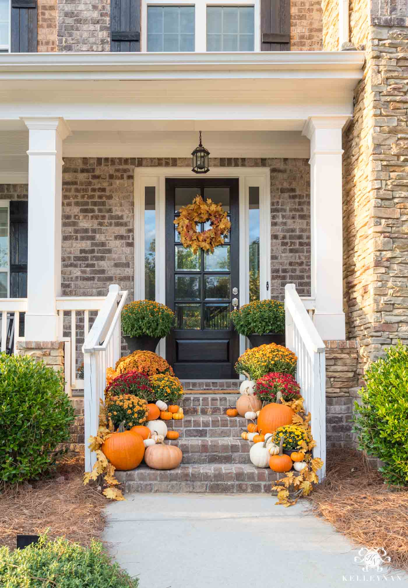 Fall front porch decor ideas and inspiration