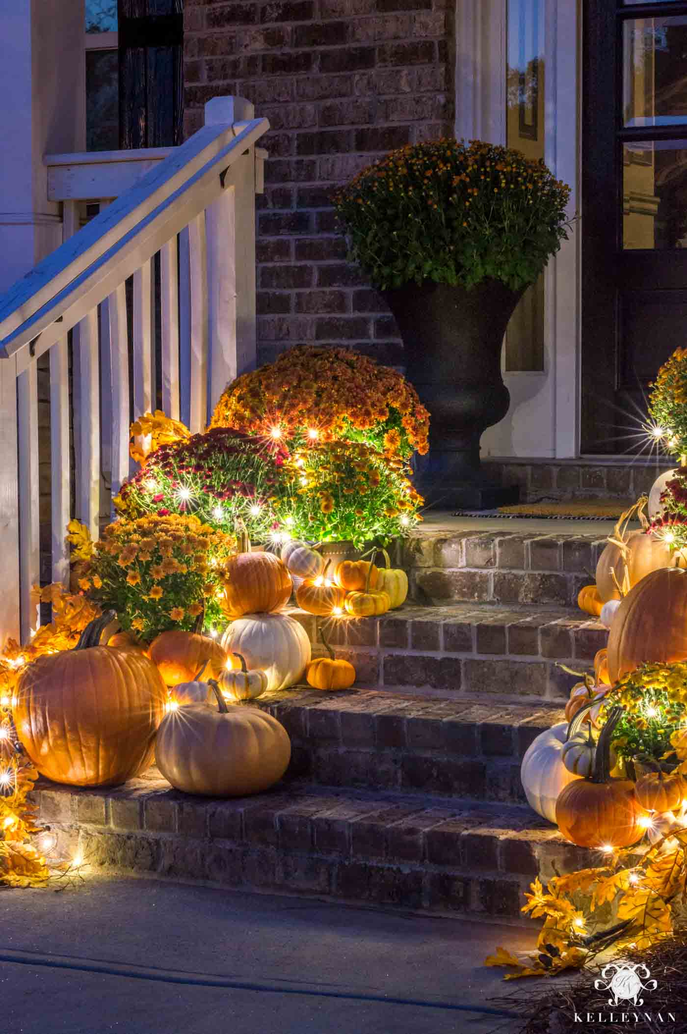 Easy, magical fall front porch decor