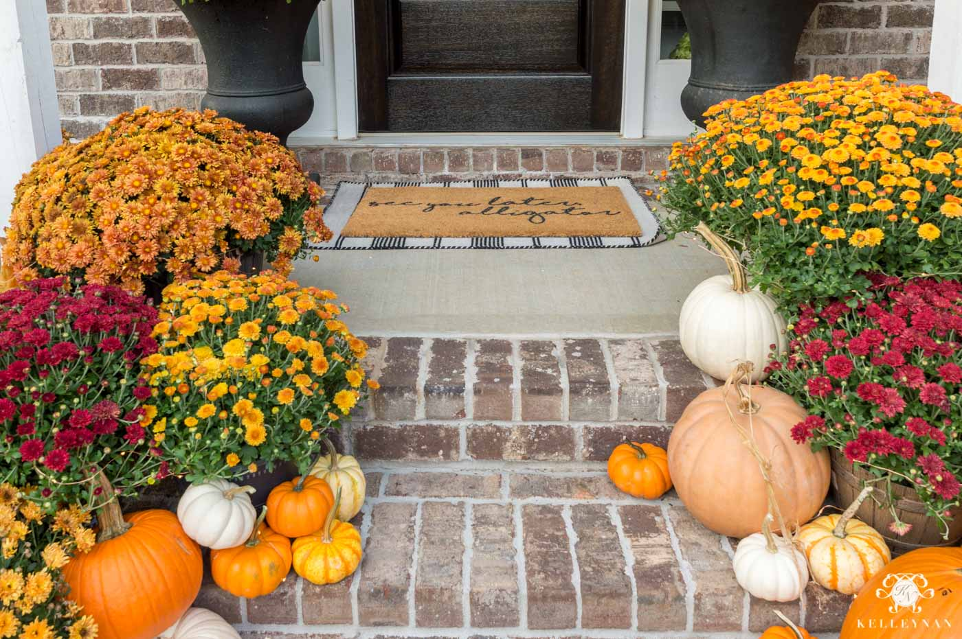 Fall Front Porch Steps Decor