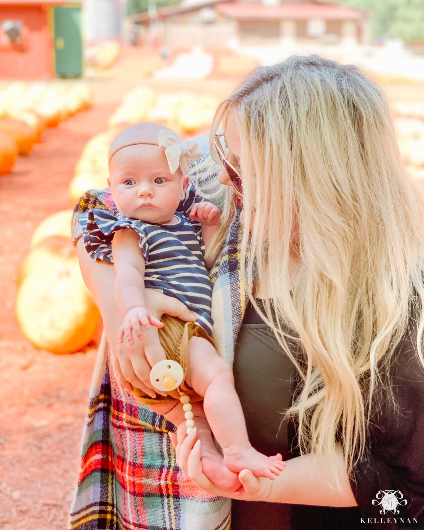 Fall Pumpkin Patch with Baby