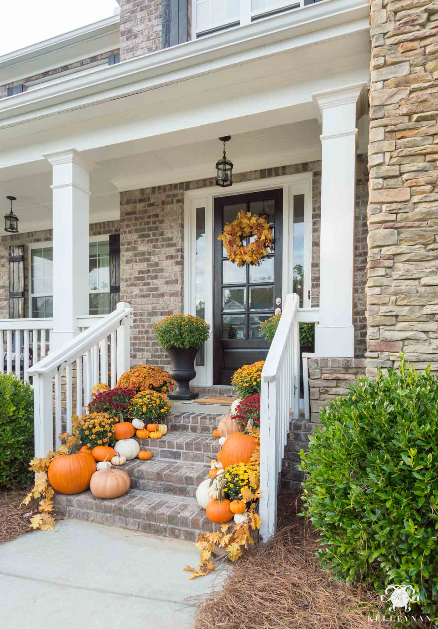 Fall front steps decor and inspiration