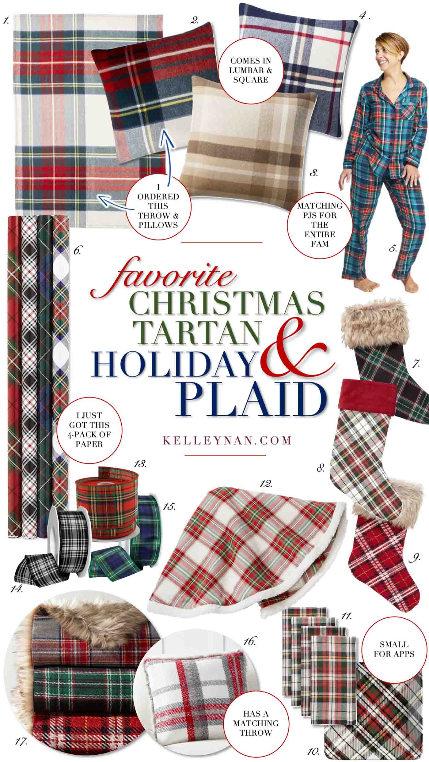 Plaid and Tartan Christmas Decor Favorites