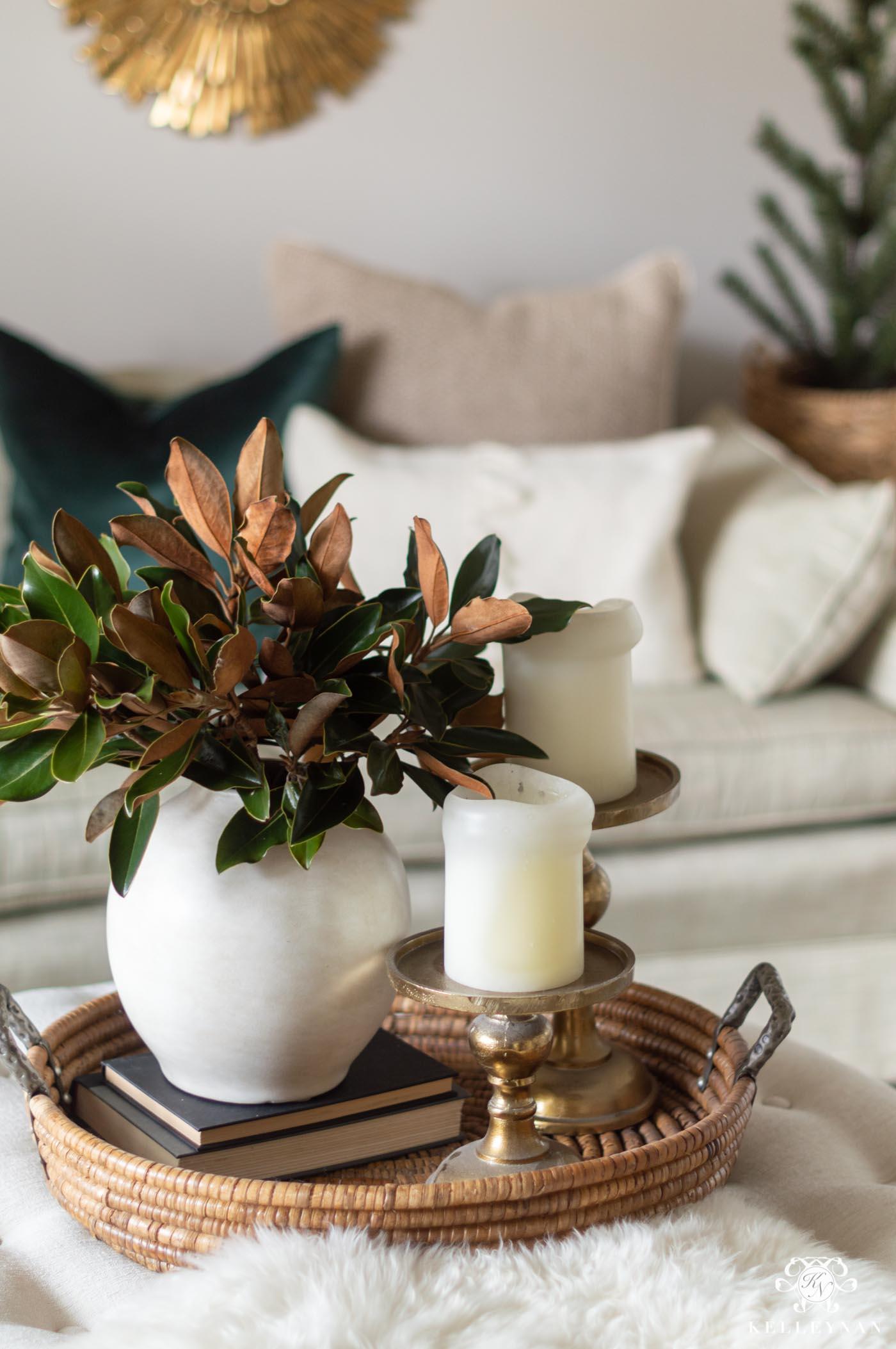 Easy Magnolia Christmas Arrangement