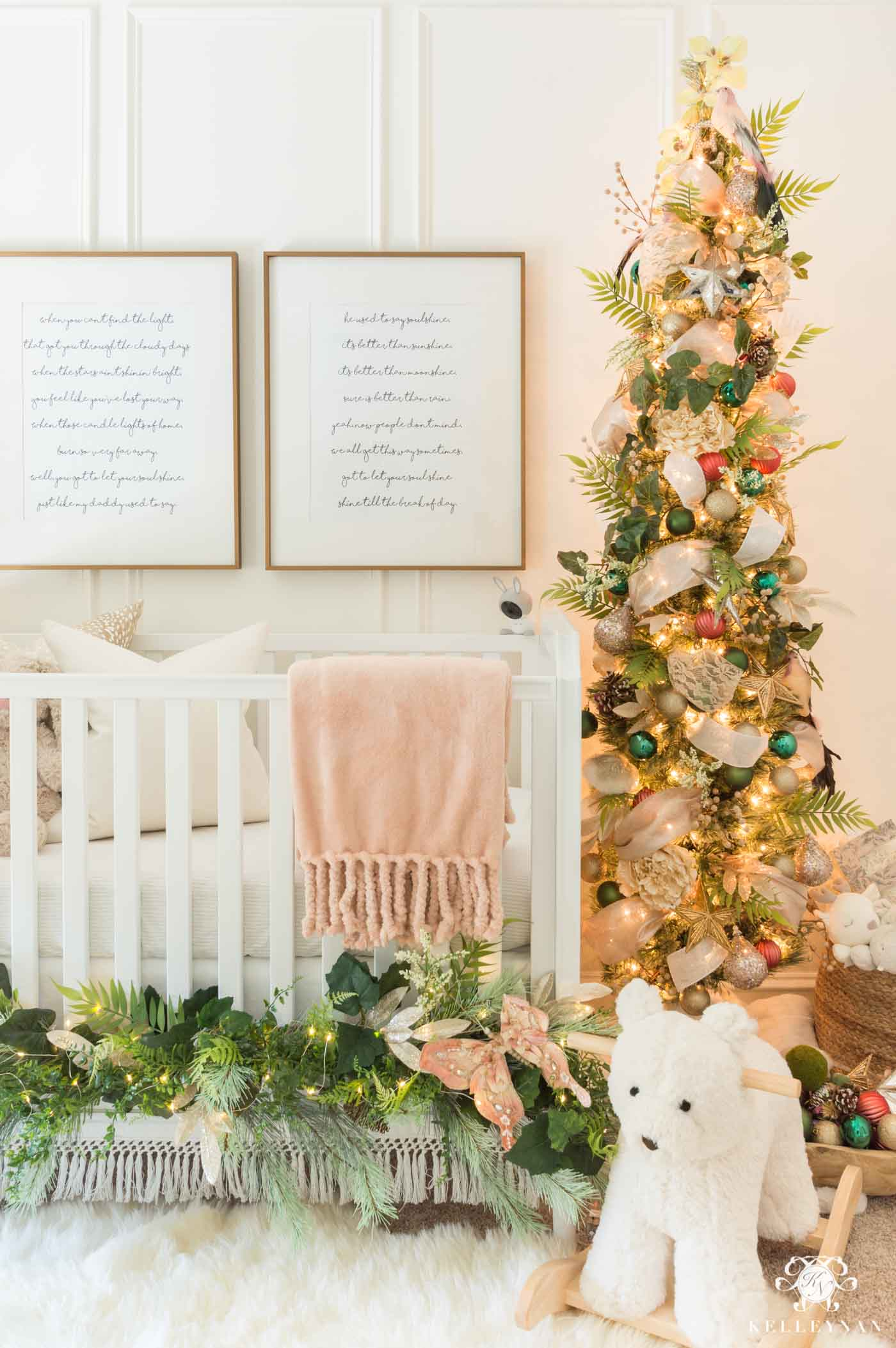 Baby girl Christmas nursery with a Fairy Theme