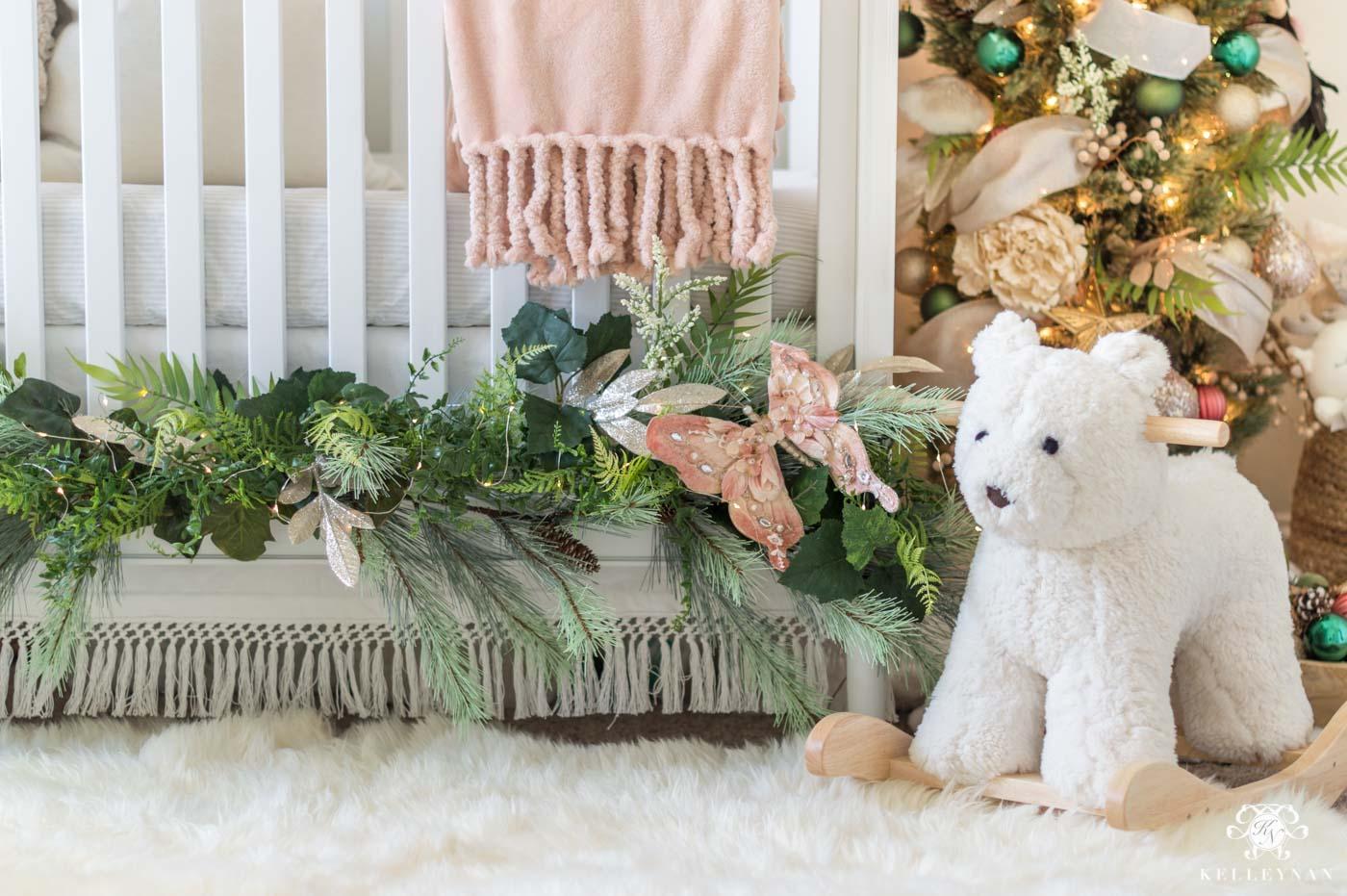 Baby nursery Christmas decor