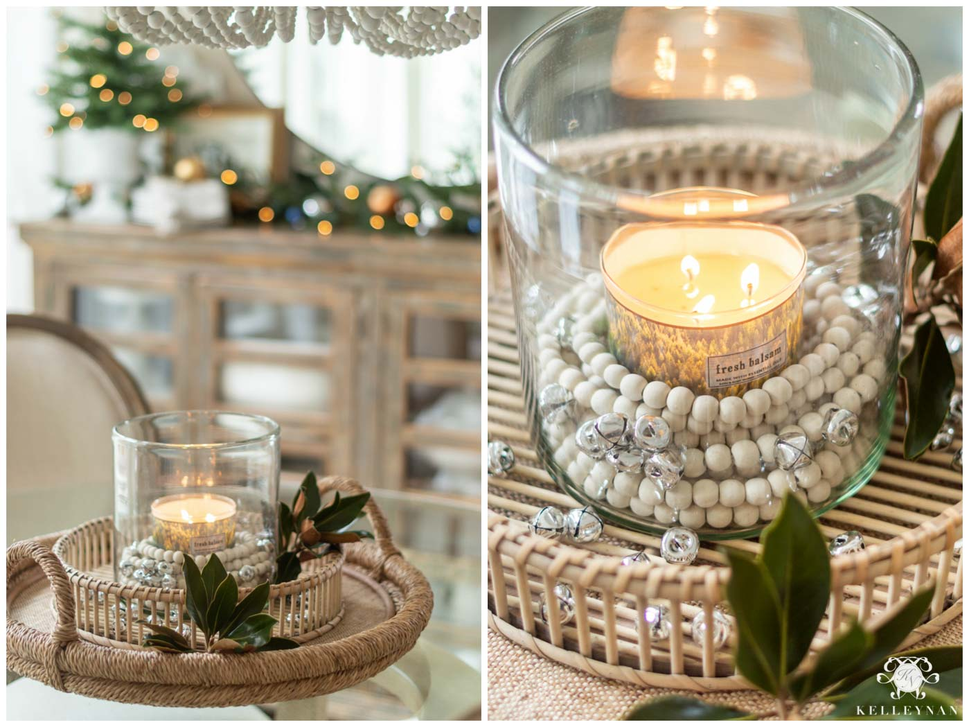Simple Candle Table Centerpiece Idea