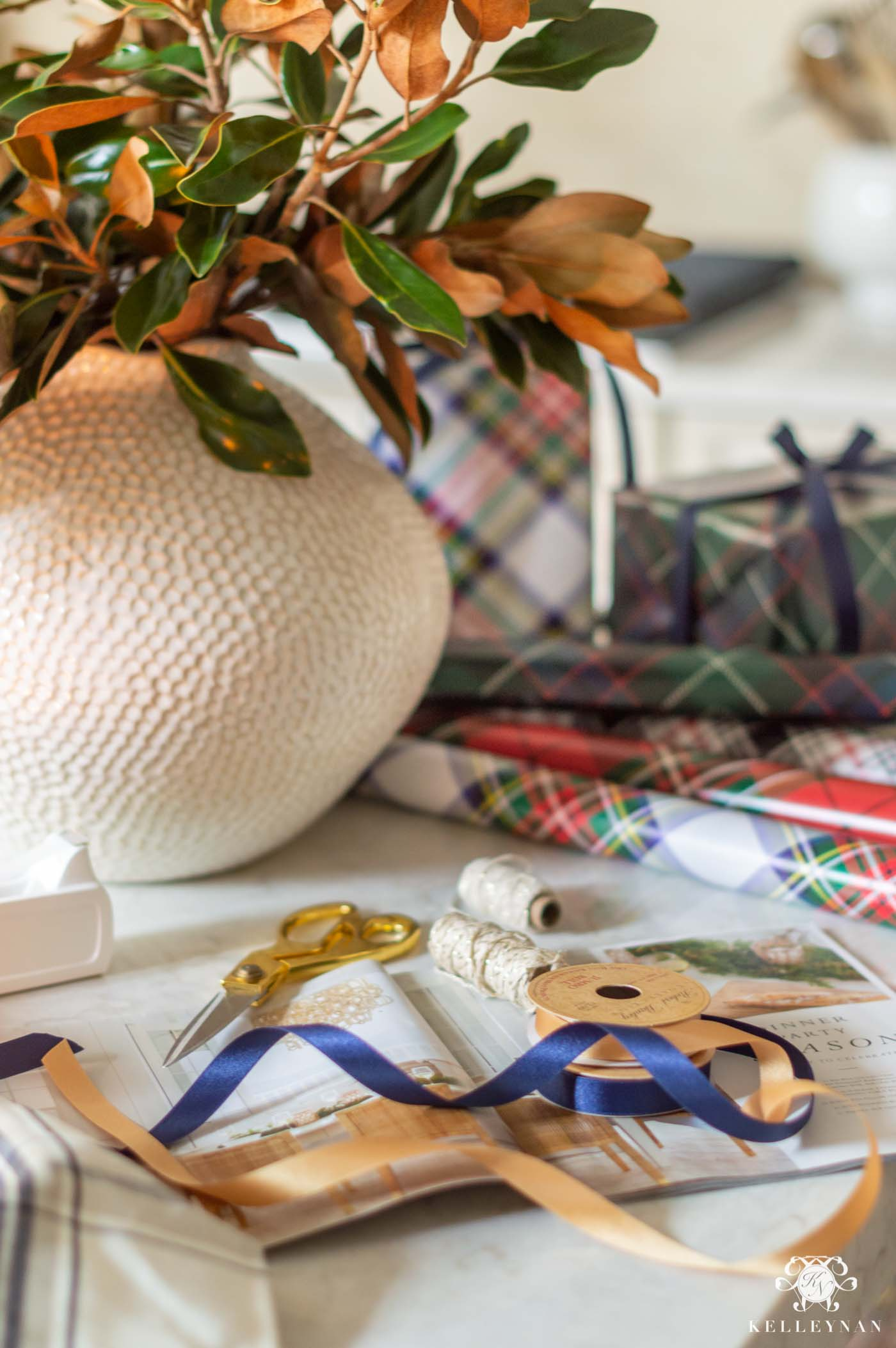 Christmas Gift Wrapping in Plaid and Tartan