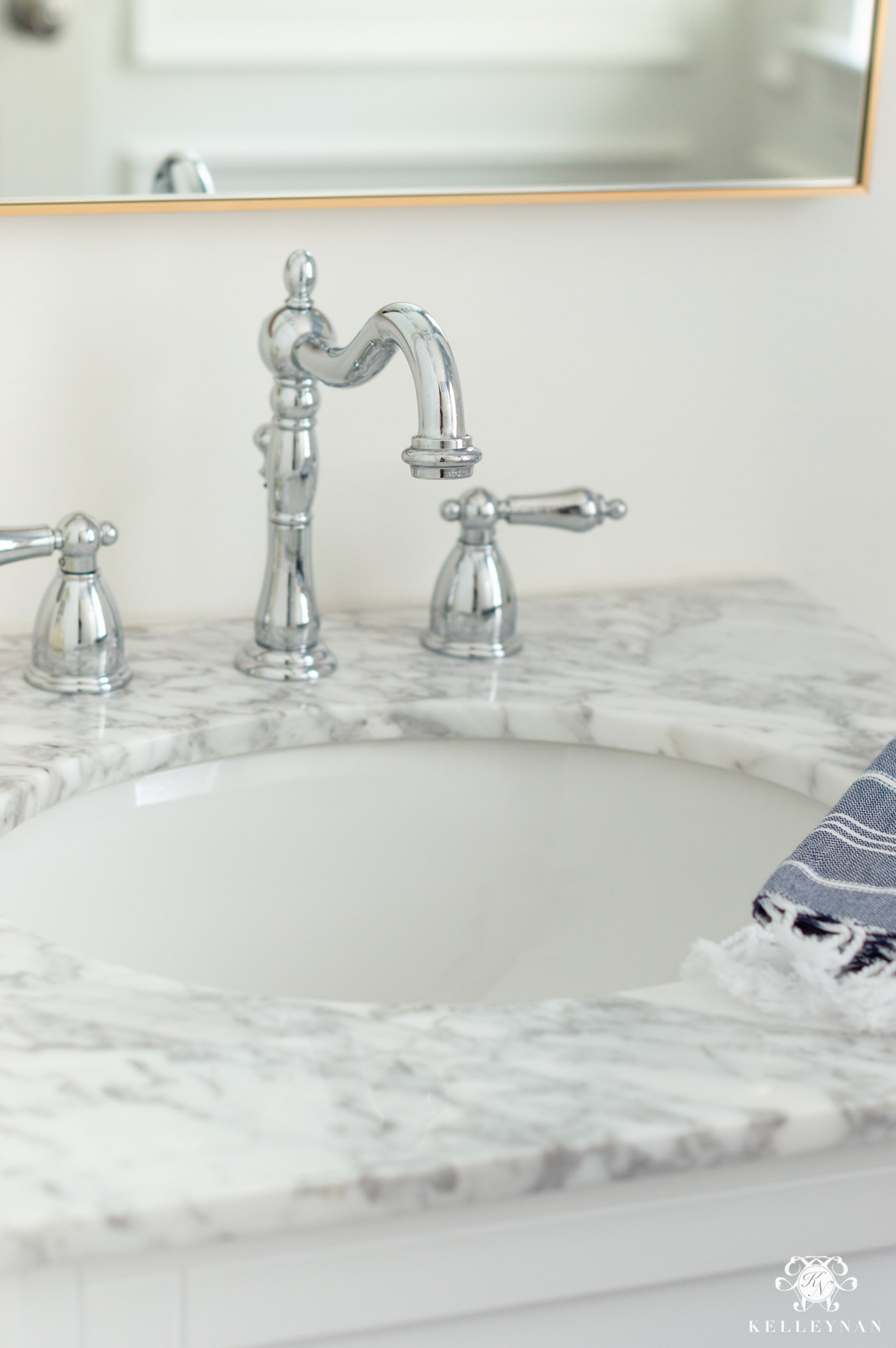 Powder Bathroom Chrome Faucet Option