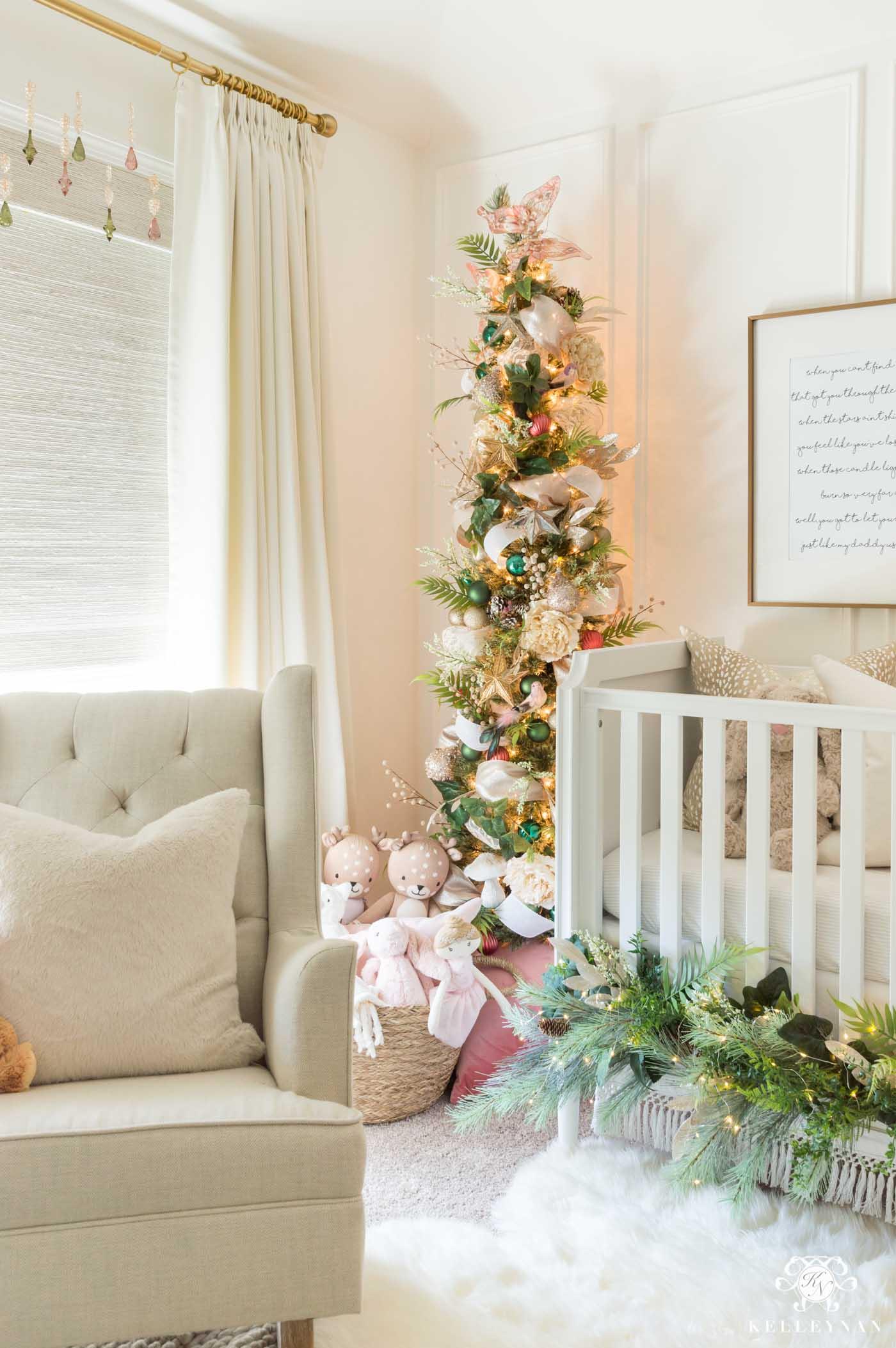 Little girl's fairy themed Christmas trees