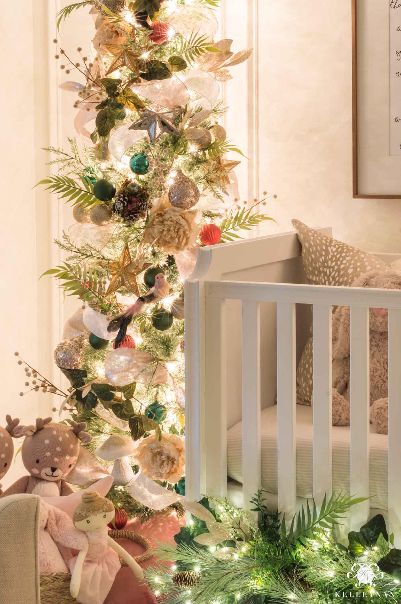 Baby girl's Christmas Nursery Decor