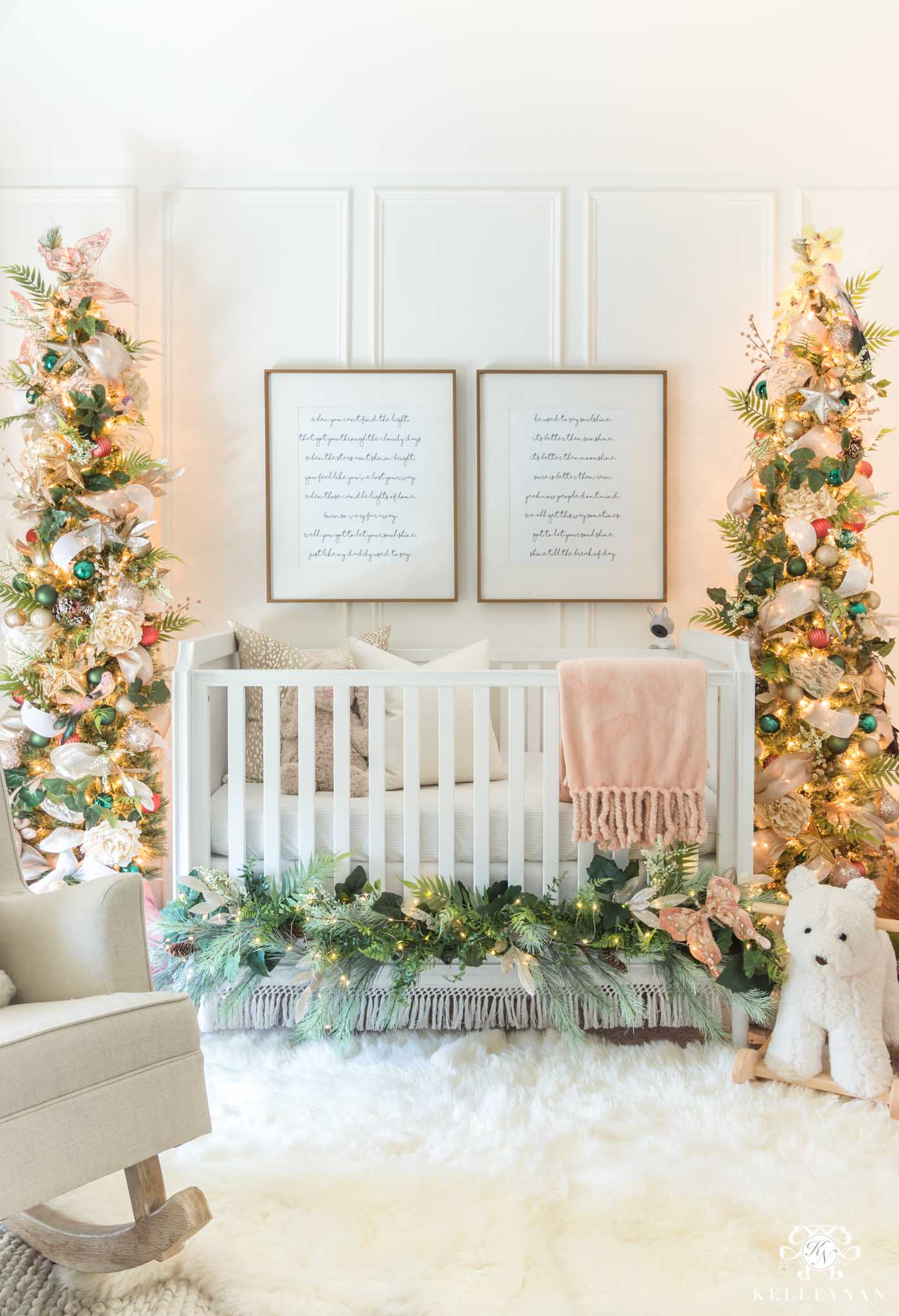 Fairy Woodland Themed Christmas Nursery with the Sweetest Holiday Decor