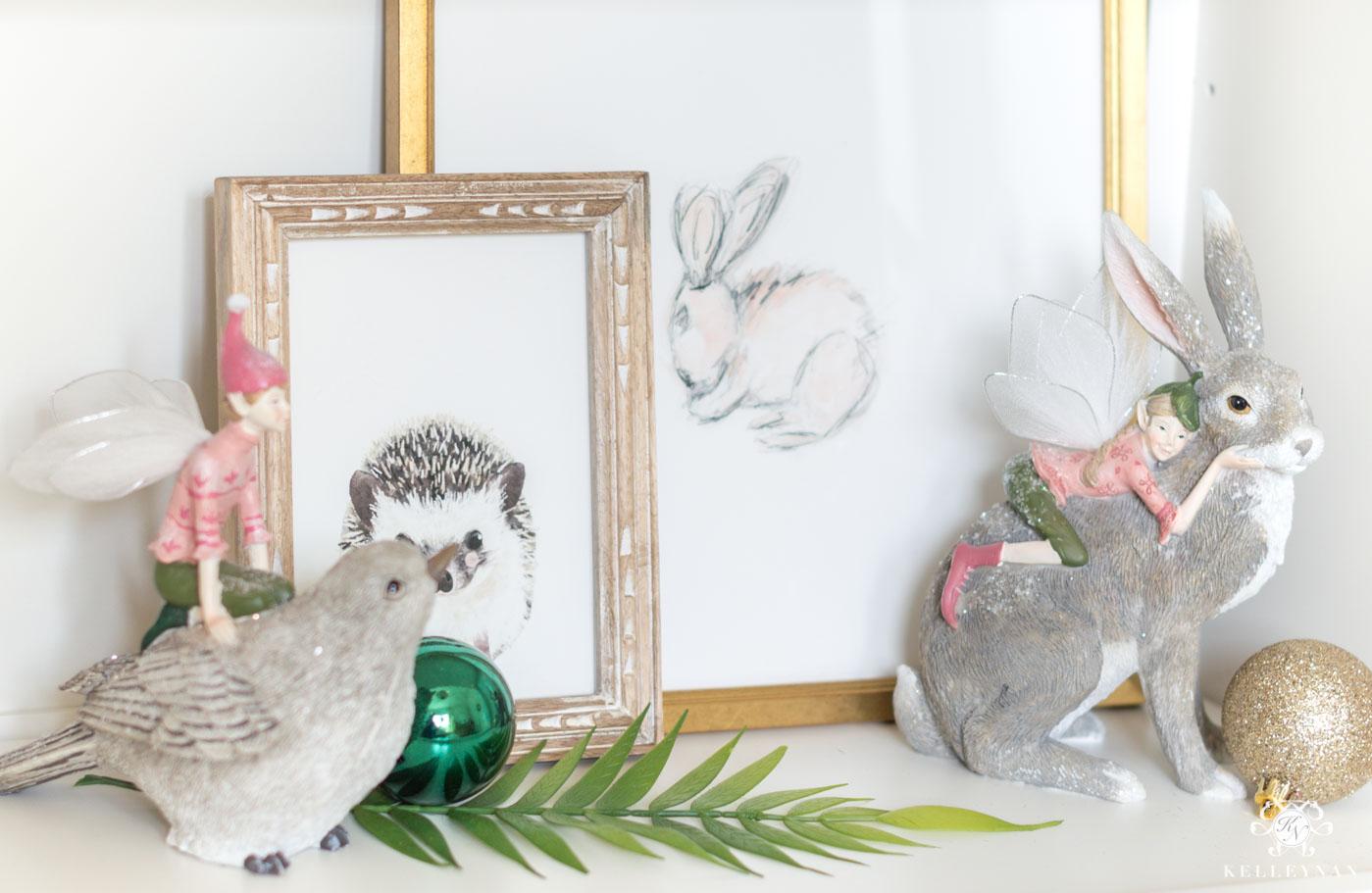 Fairy theme in a baby girl's nursery