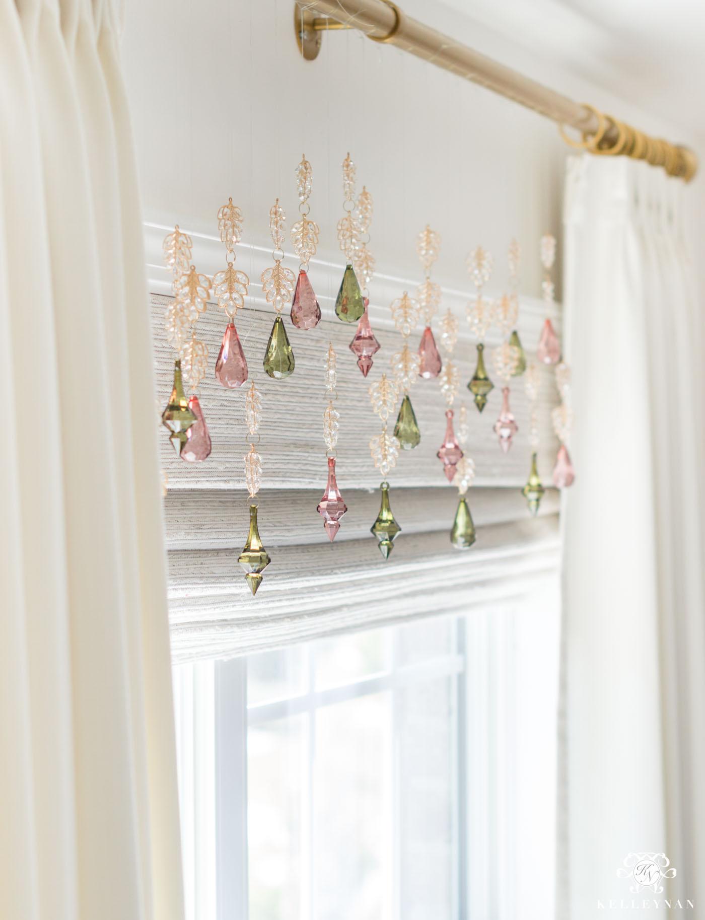 Baby girl nursery window decor ideas