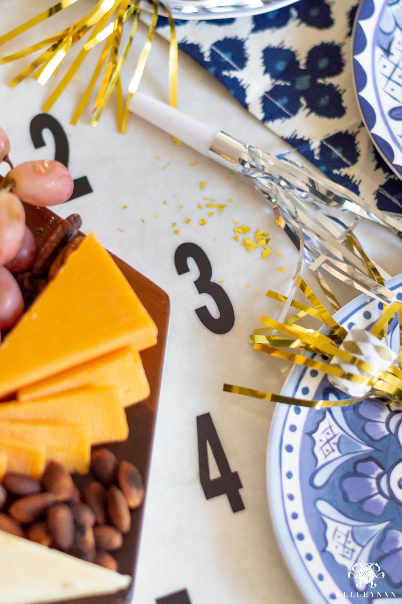 NYE Food Idea - Clock Cheese Platter