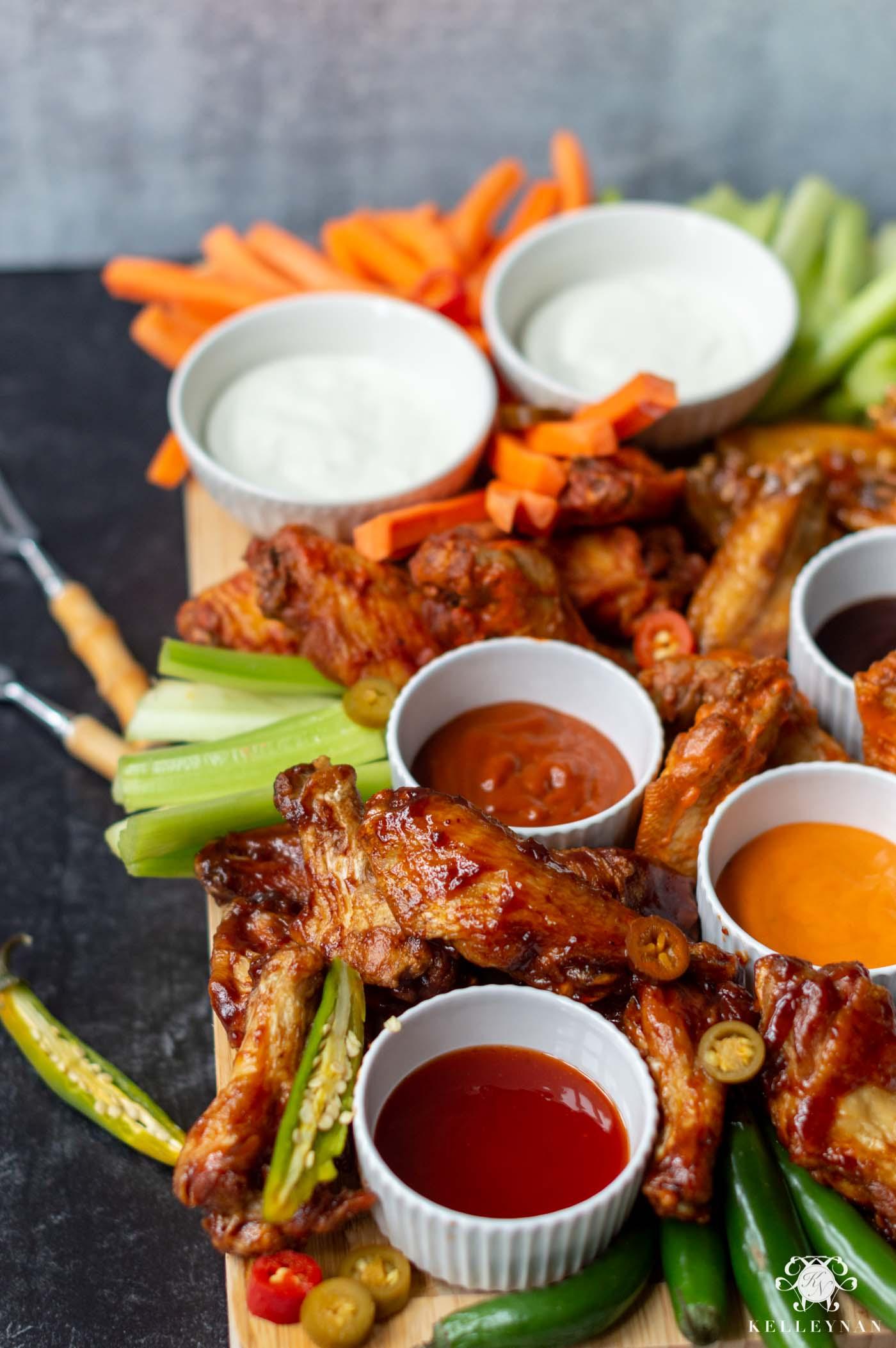 Superbowl Party Food Idea- Hot Wings n' Things Board