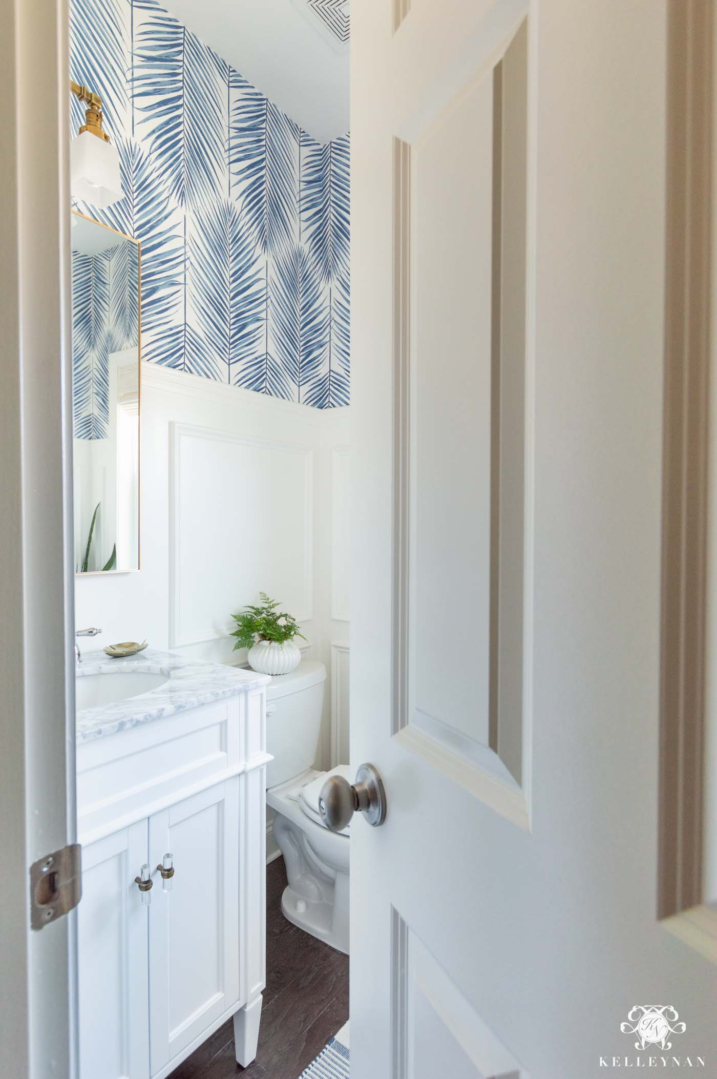 Coastal Powder Room A Modern Classic Design Kelley Nan