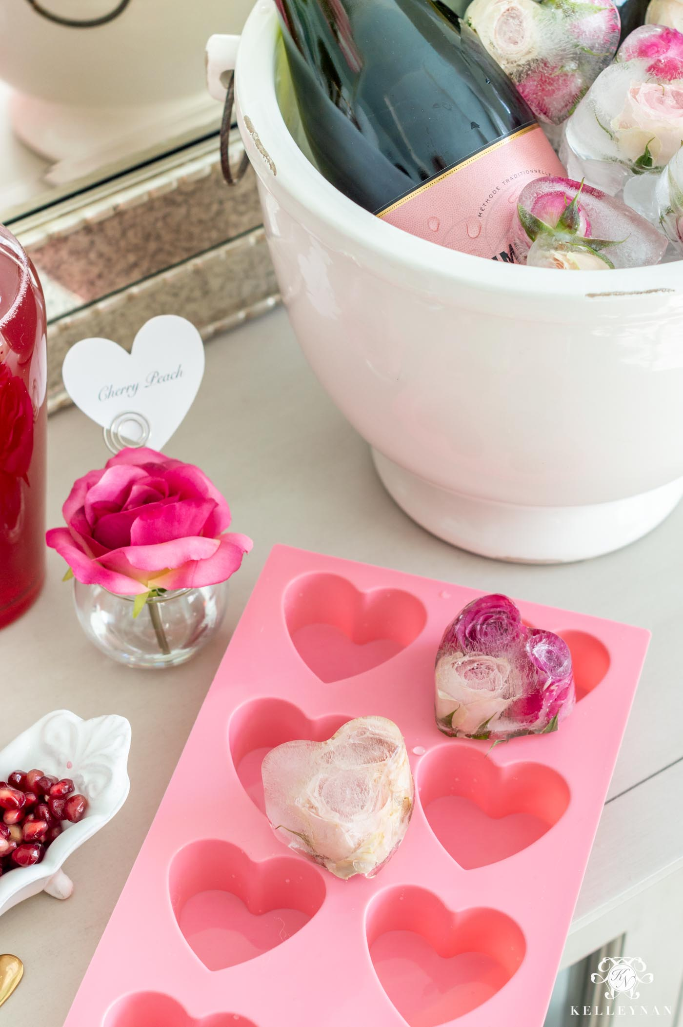 Heart Shaped Ice Cube Tray for Party and Shower Beverage Stations