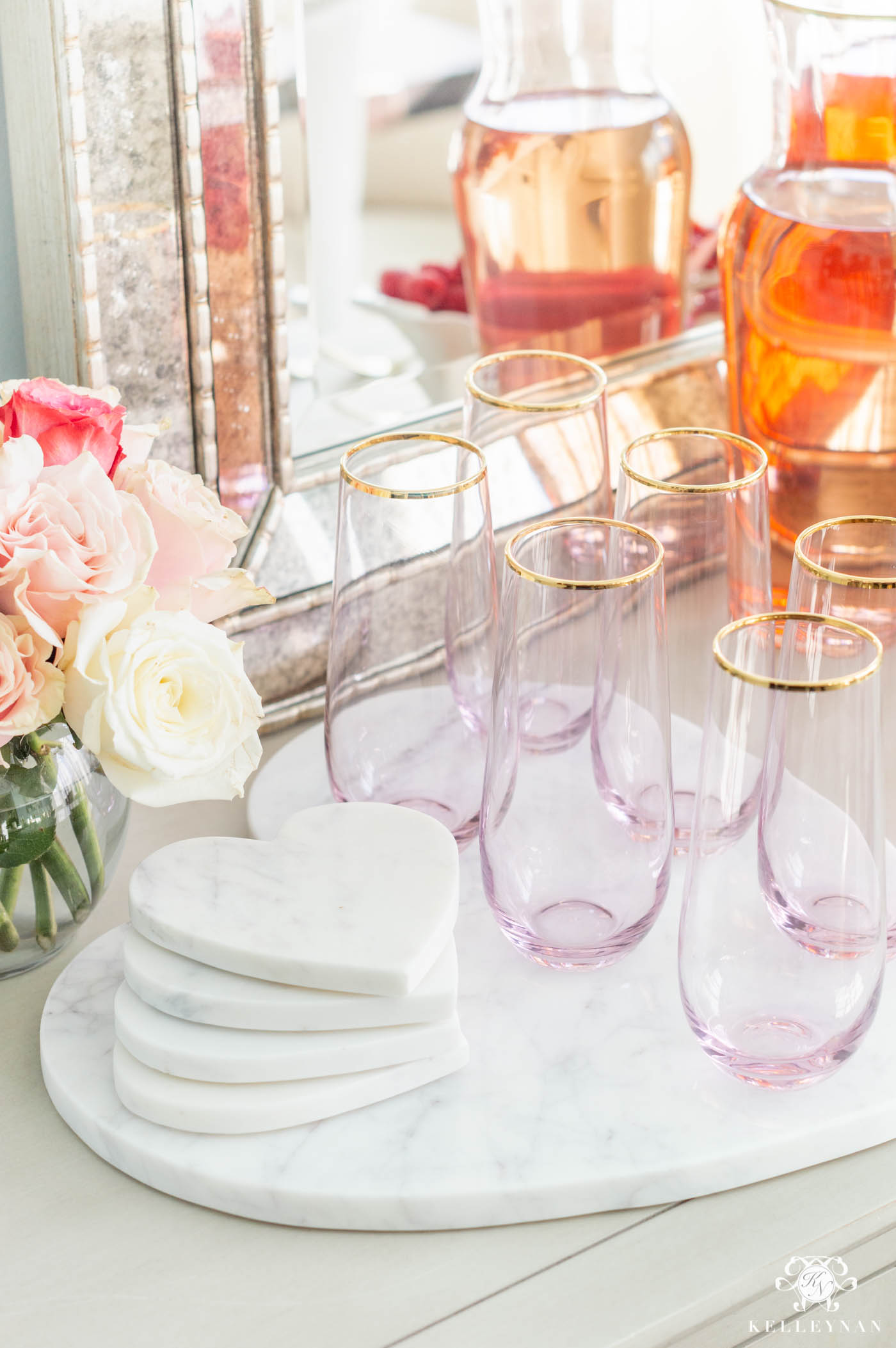 The Perfect Mimosa Bar with Ideas for Bridal Showers, Engagement Parties, and more!