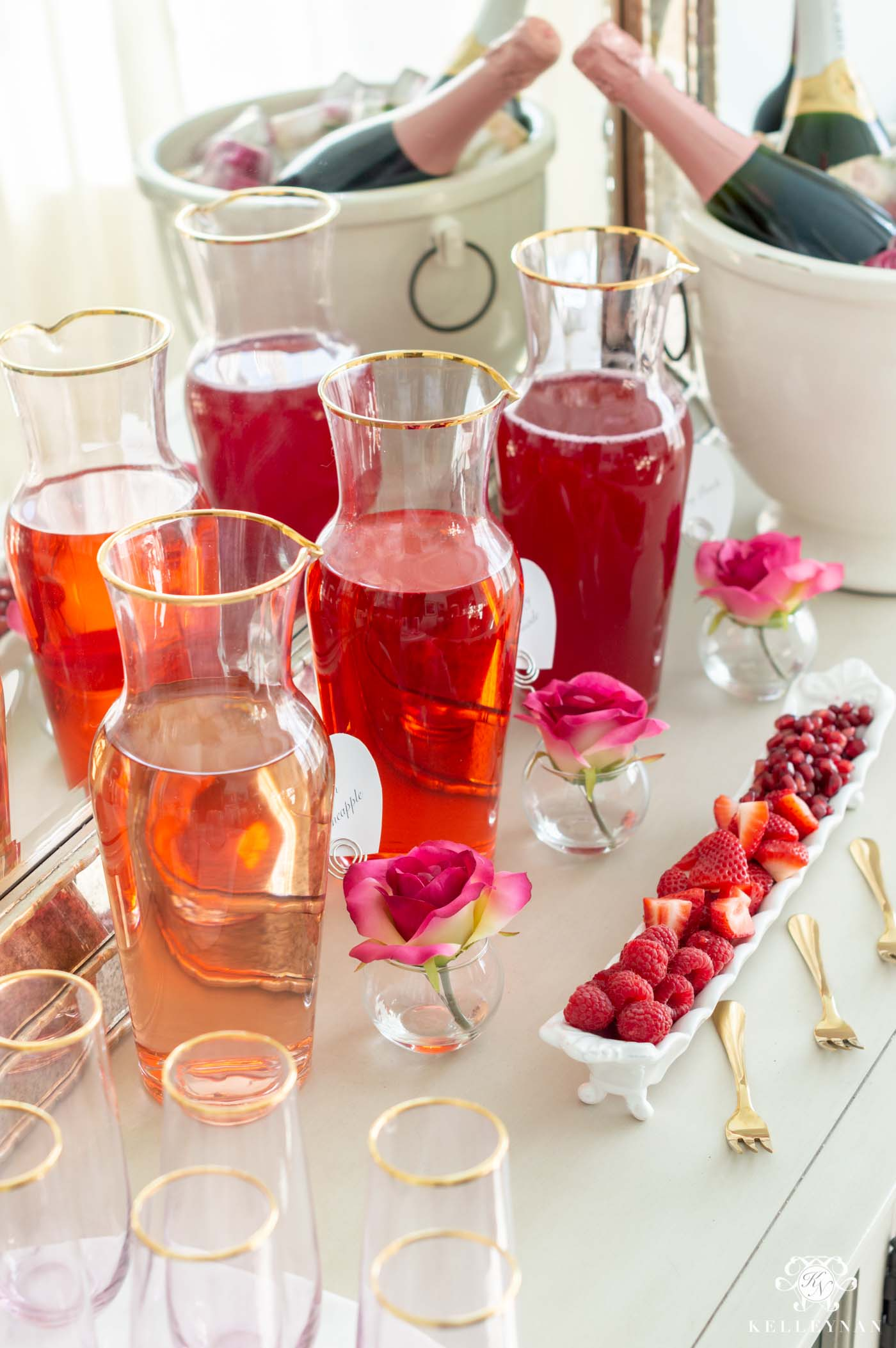 Color Themed Mimosa Bar Juices -- Tips on Setup & More!