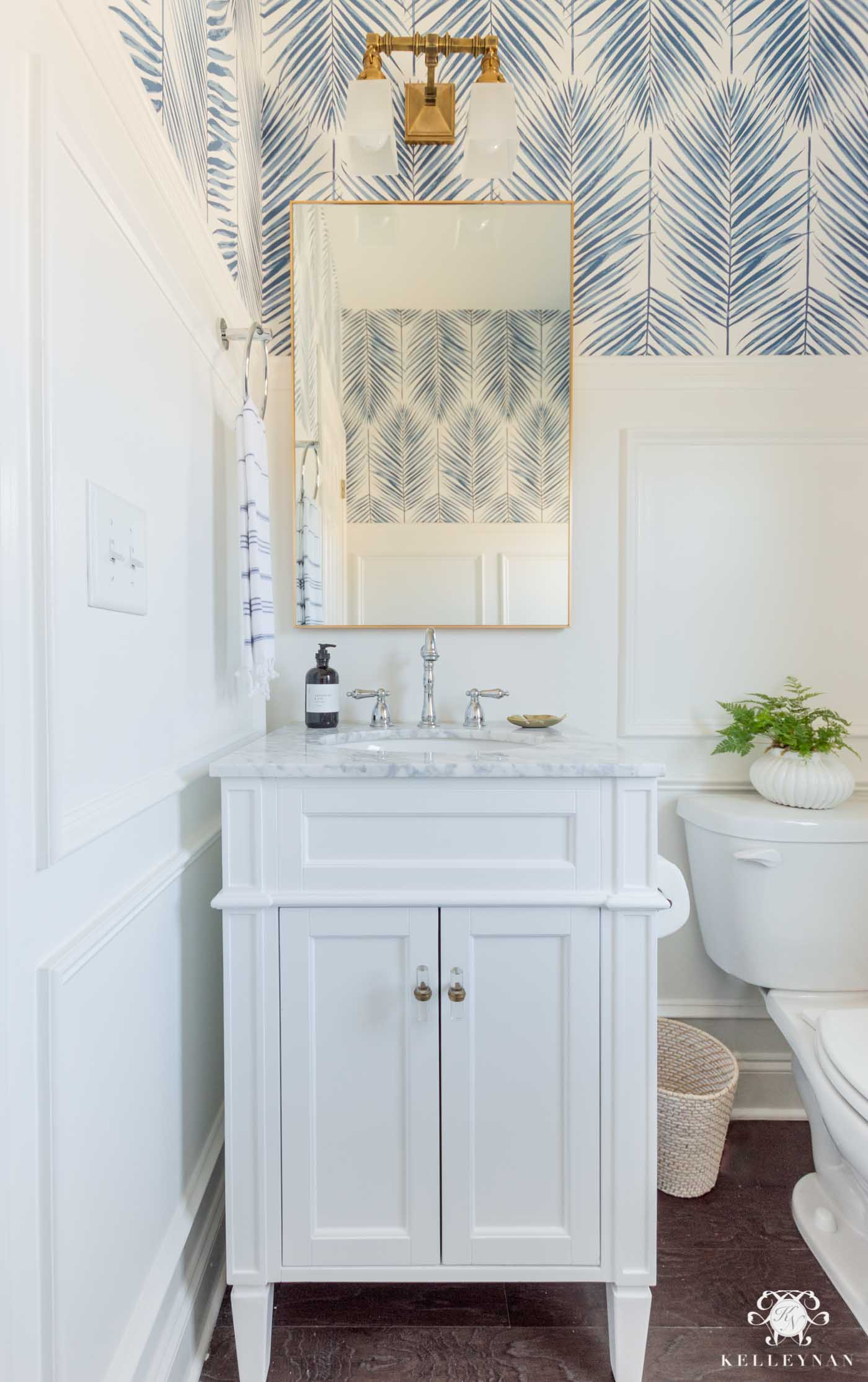 Small Powder Room Design Ideas -- Coastal Modern Design and Decor