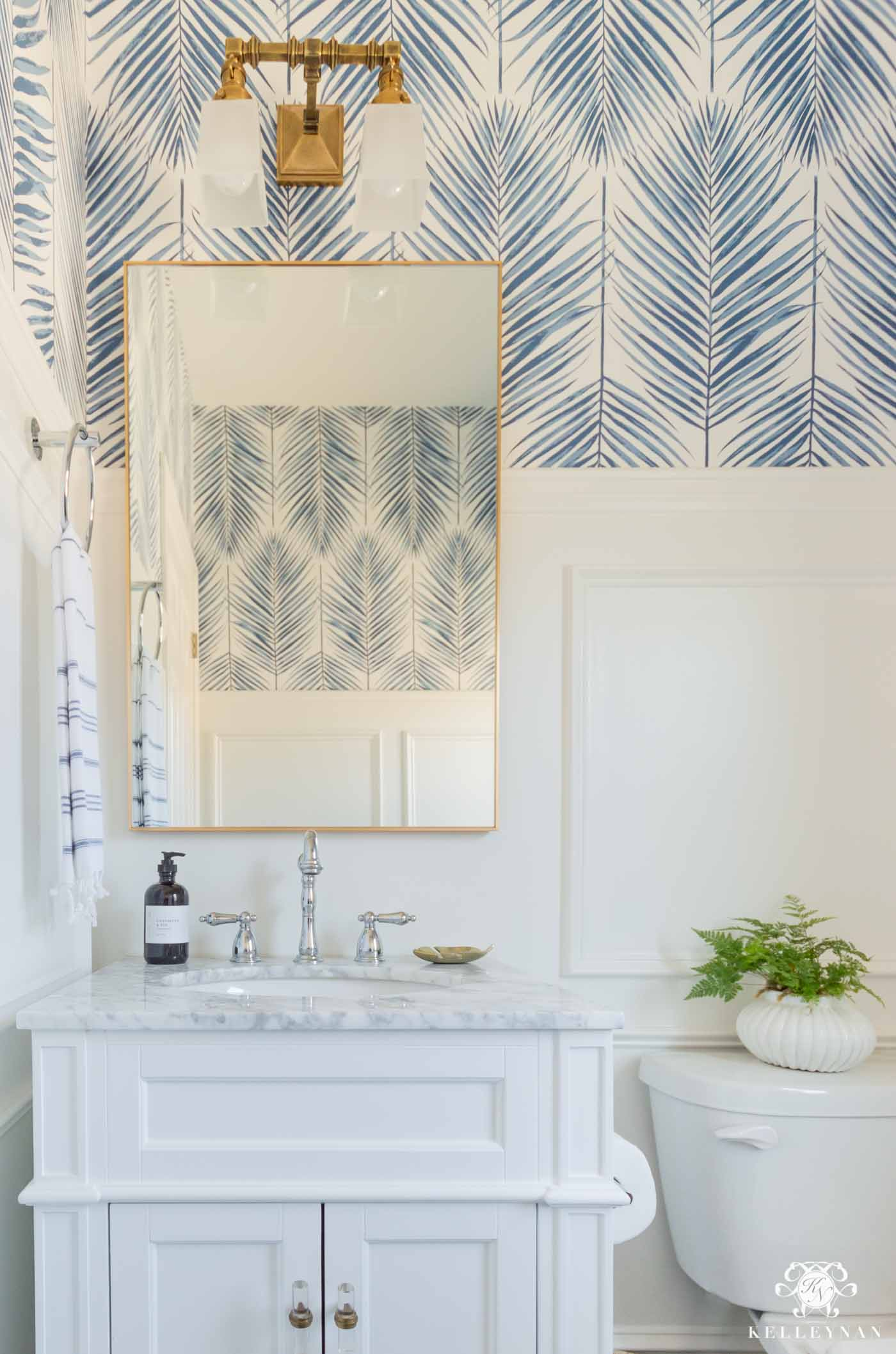Modern Coastal Powder Room Ideas
