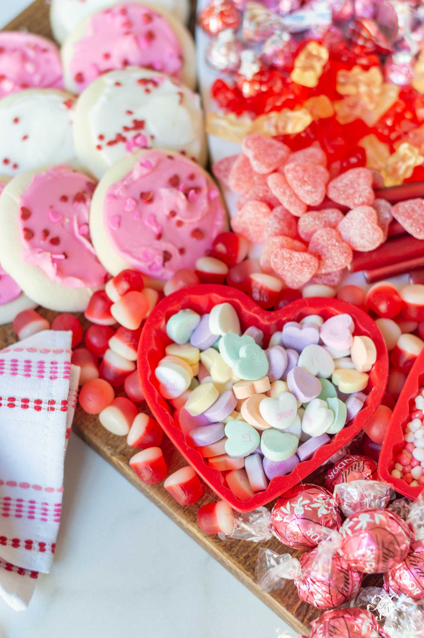 Valentine's Day Candy Board & Display Idea