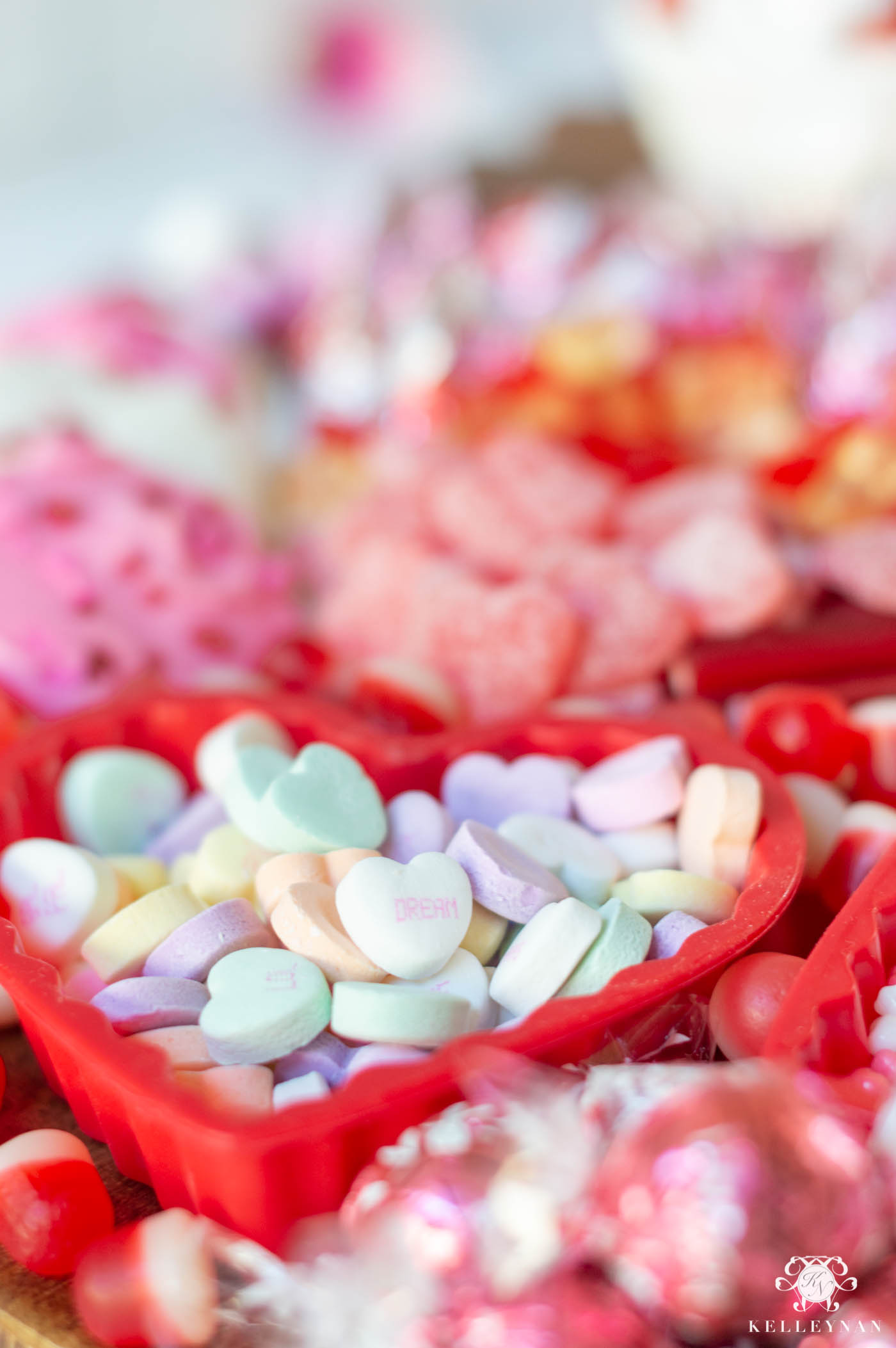 Valentine's Day Candy Display and Treat Idea