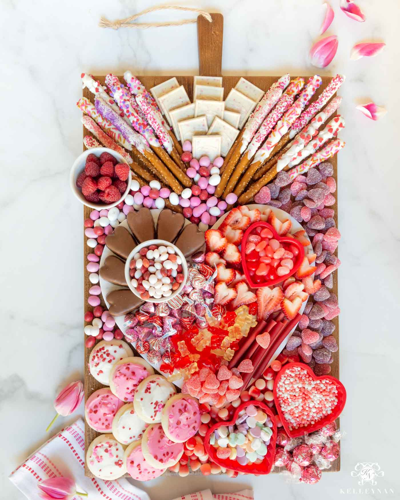 Valentine's Day Candy Board (Covered with candies, sweets, and treats!)