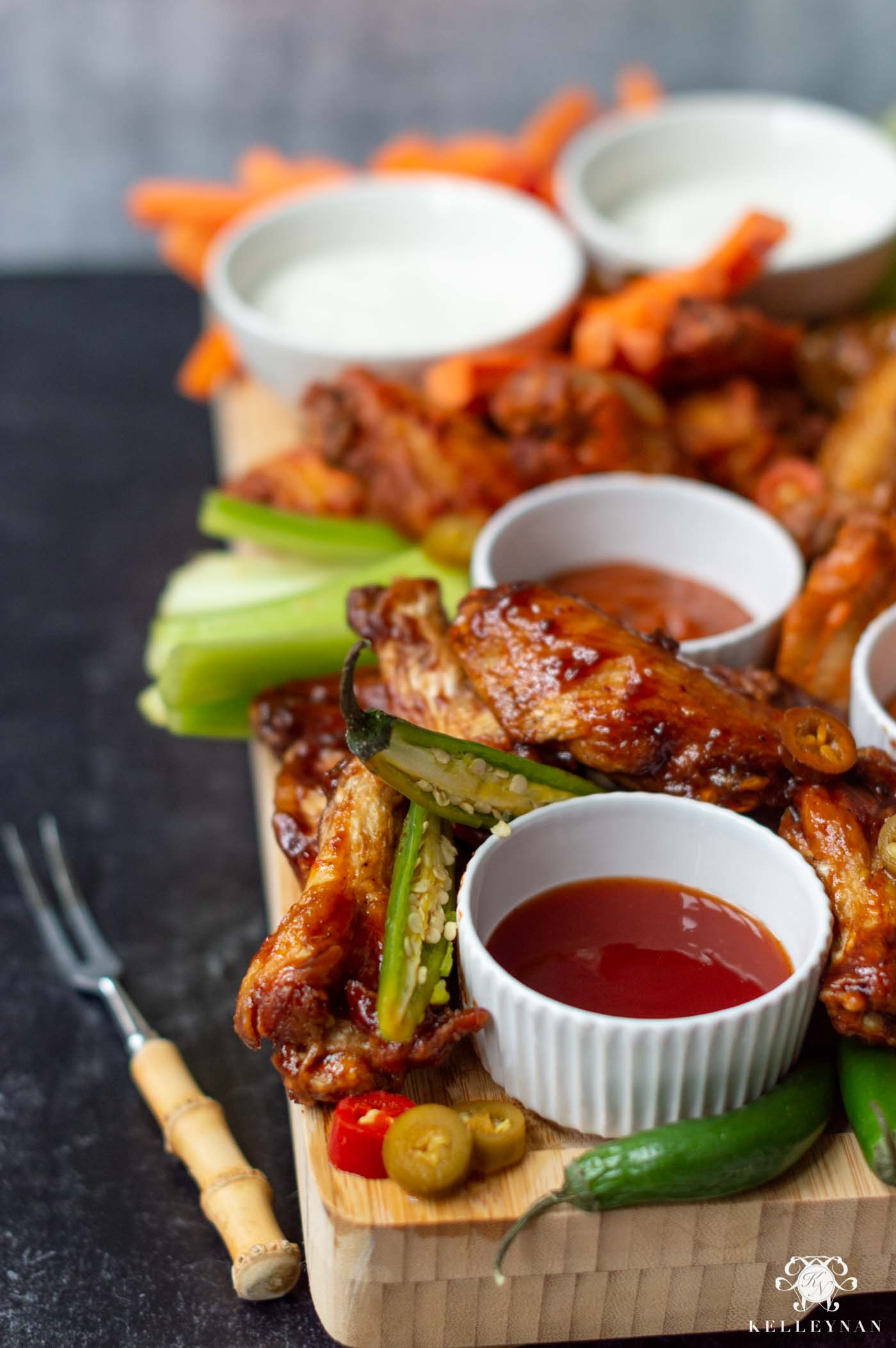 Buffalo Hot Wing Board- The Food Idea for Your Next Superbowl Party!