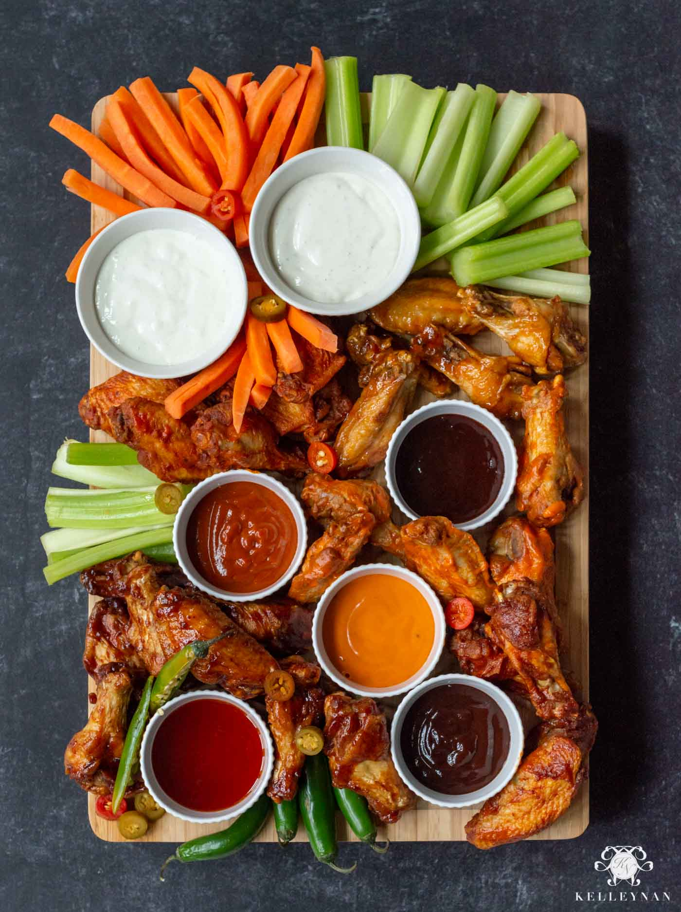 Hot Wings n' Things Board- The Superbowl Food Idea for your Football Party!