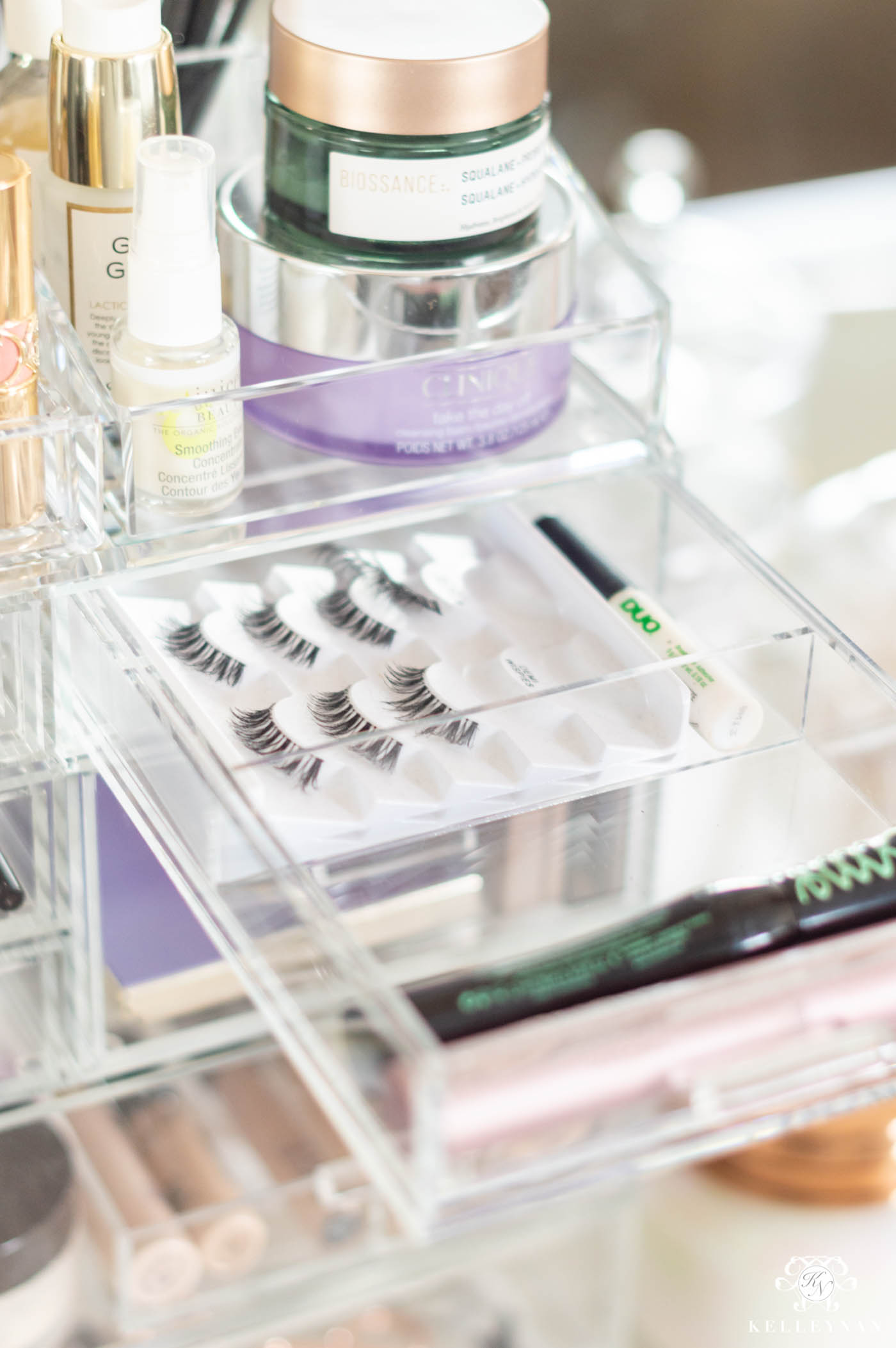 Makeup Organization Ideas with a Customizable Acrylic Organizer