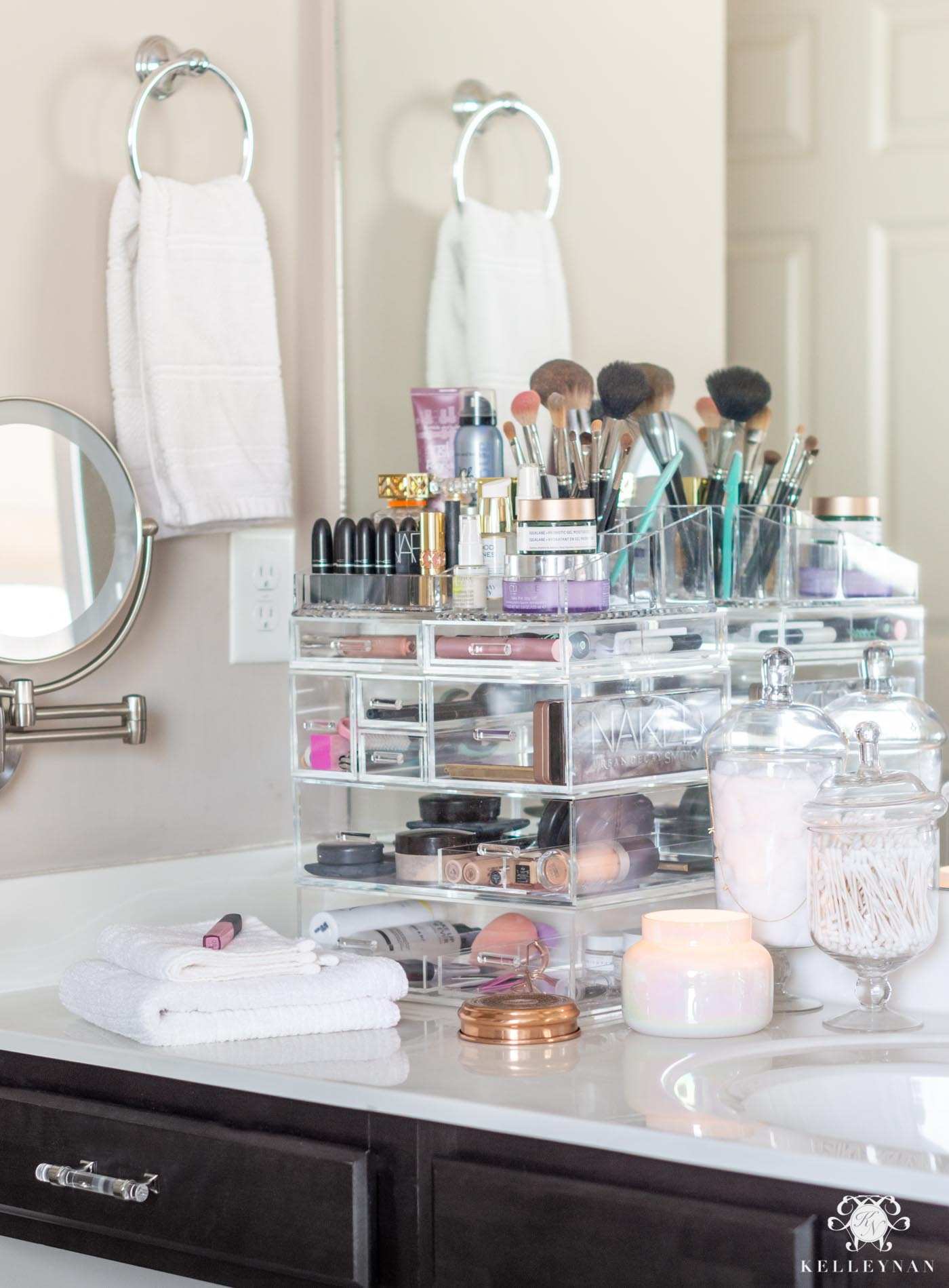 Makeup Organization Tips & Best Acrylic Makeup Organizer  Kelley Nan
