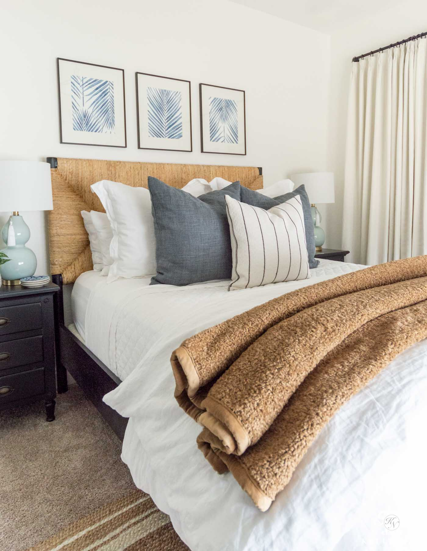 Guest Bedroom Makeover Reveal with Easy , Affordable DIYs!