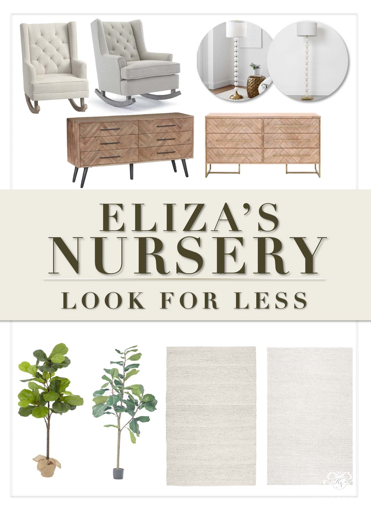 Popular Neutral Nursery Furniture & Decor -- Affordable Look Alikes for Less!
