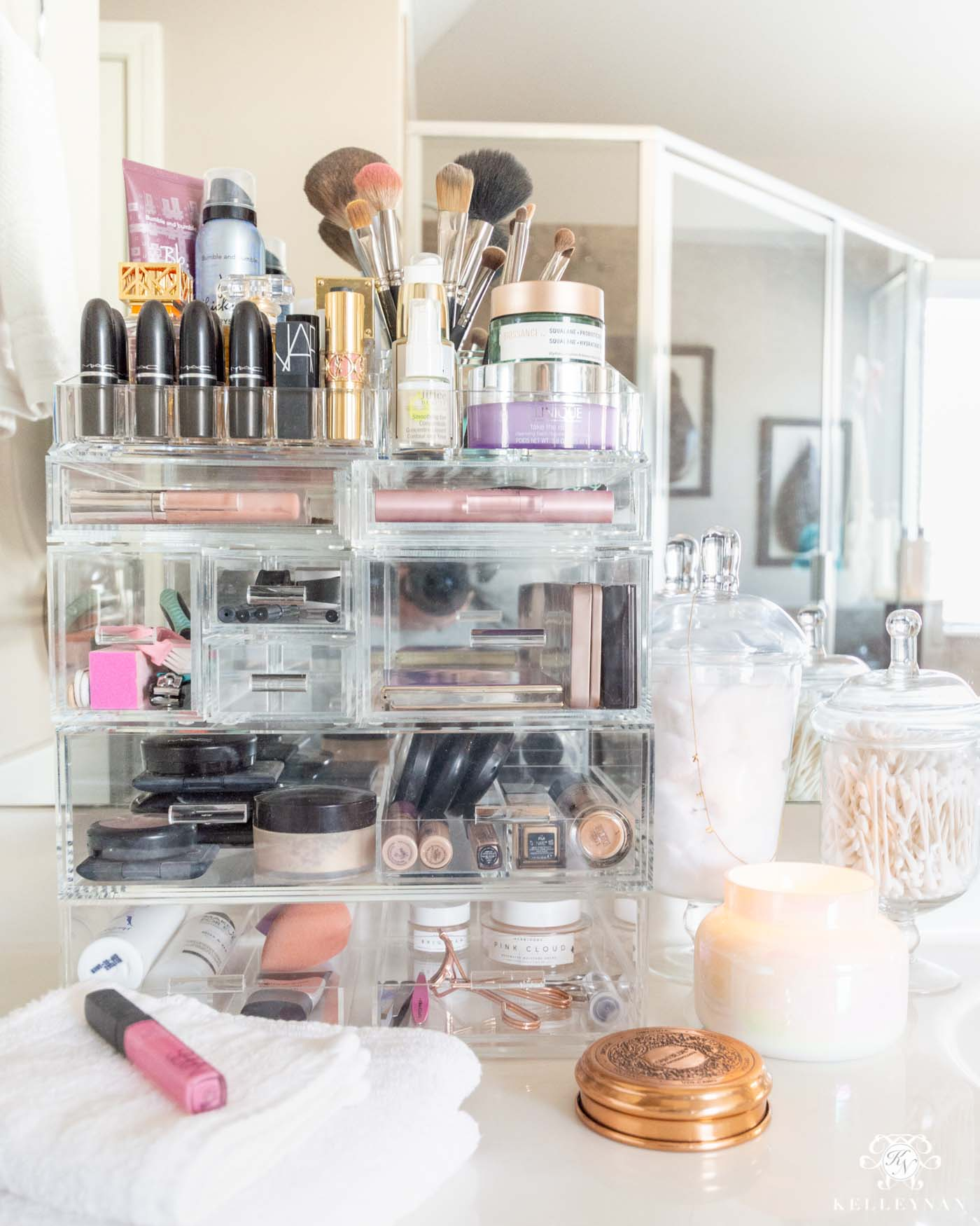 How to Organize Makeup in the Bathroom -- & the Favorite Acrylic Makeup Organizer