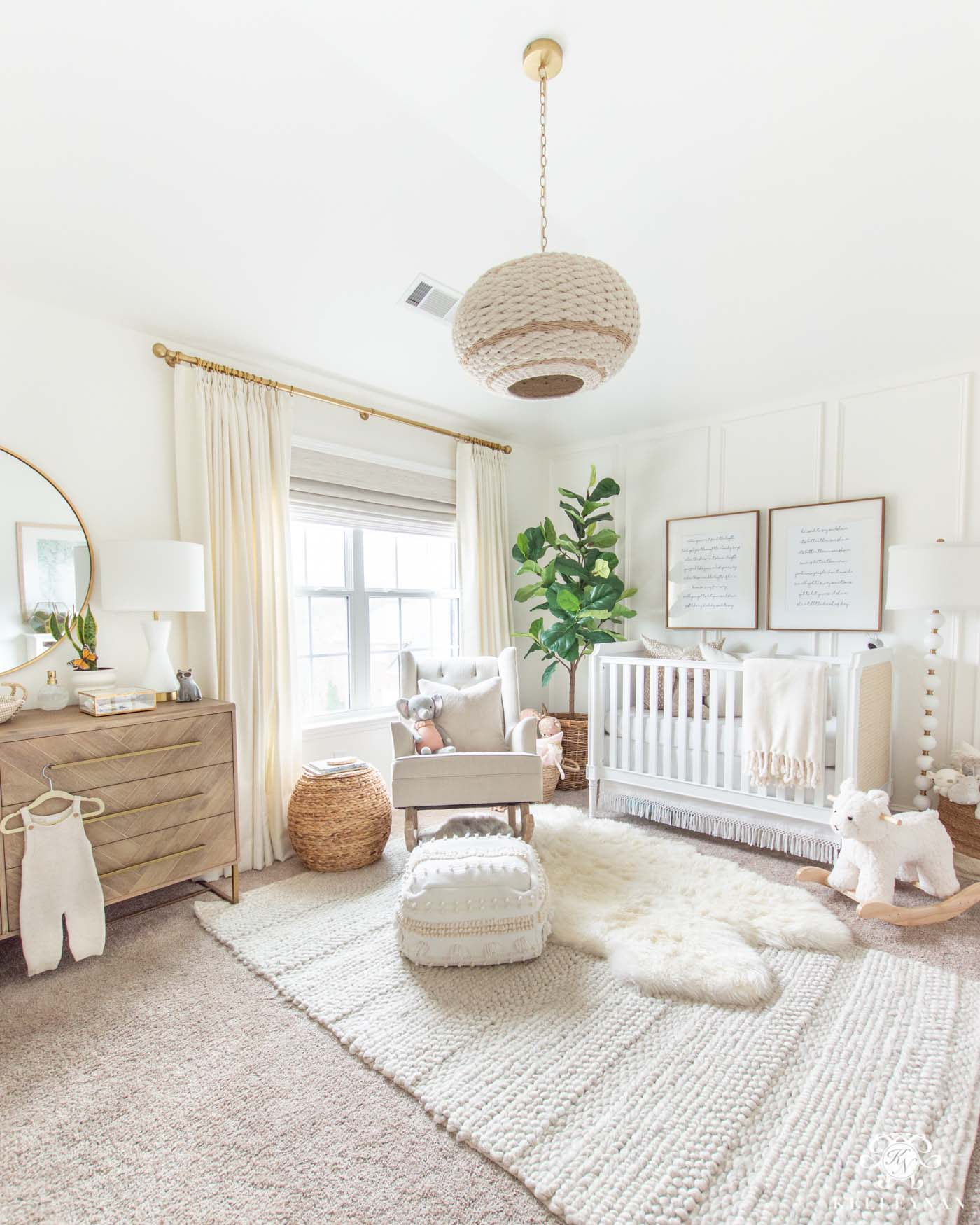 Inexpensive Nursery Decor Look-Alikes for a Beautiful Gender Neutral Nursery