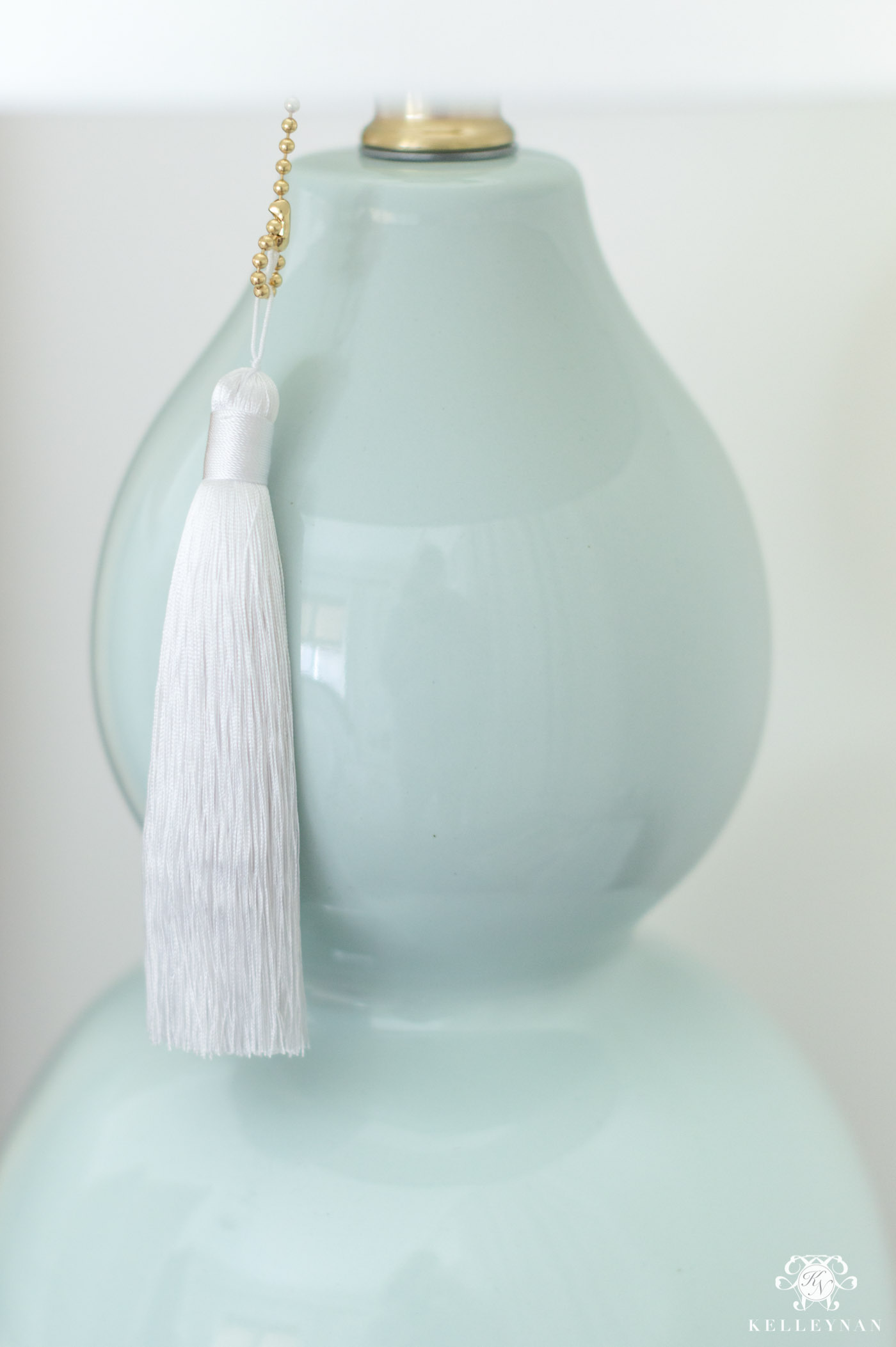 Tiffany Blue Lamps with Tassels
