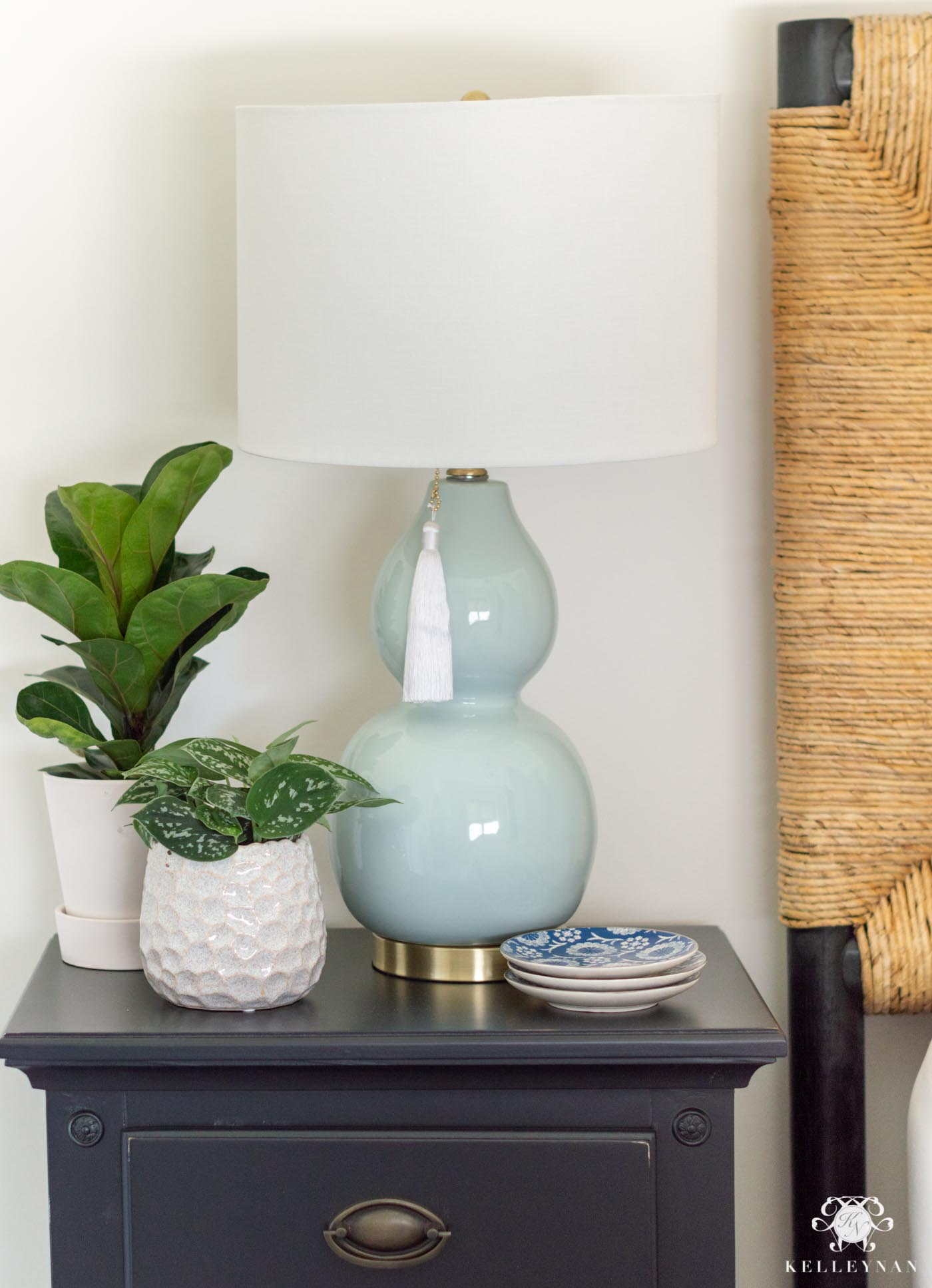 Nightstand Decor with Plants